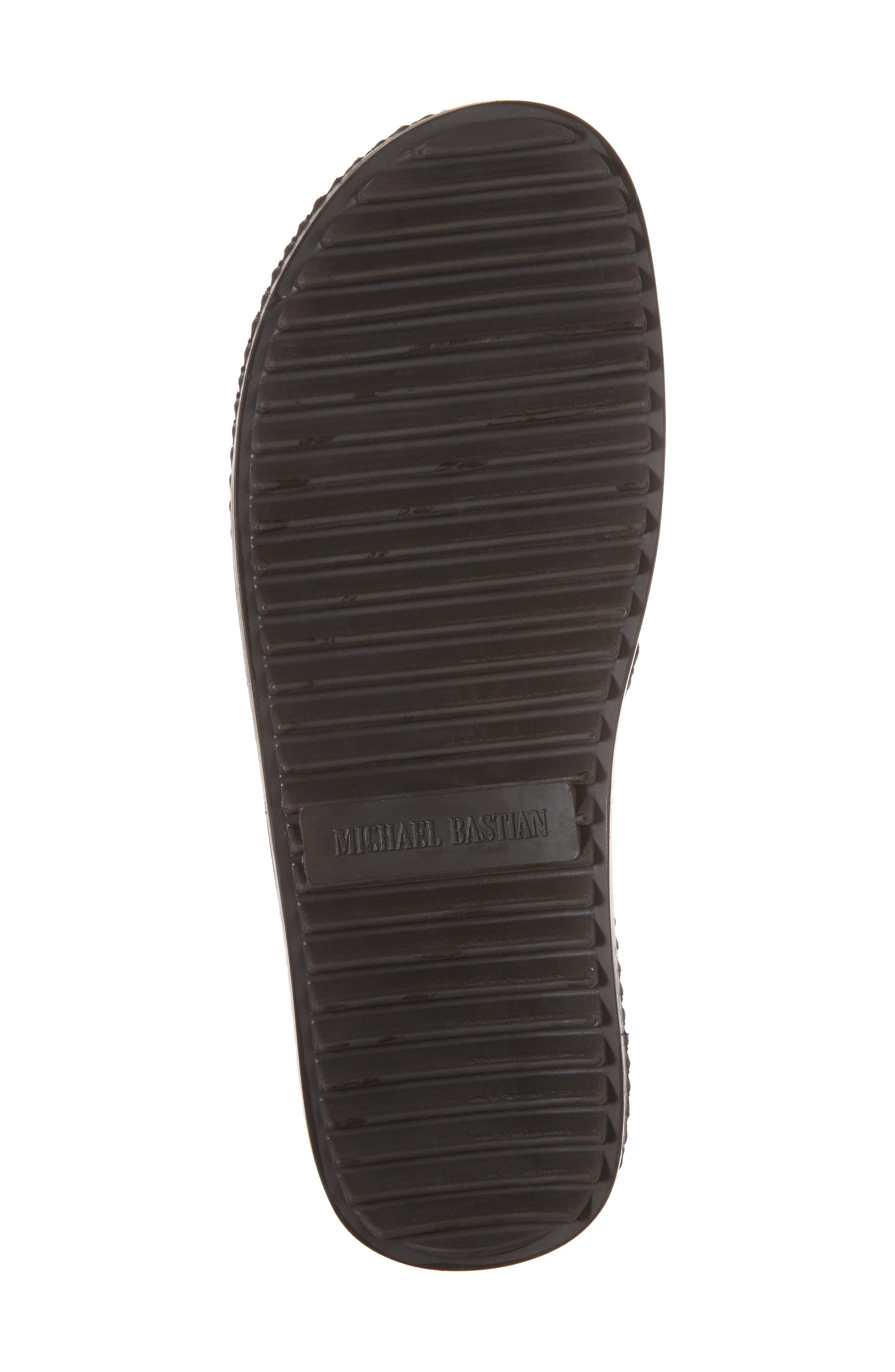 Michael Bastain Flip Flop,                             Alternate thumbnail 6, color,                             Brown Leather