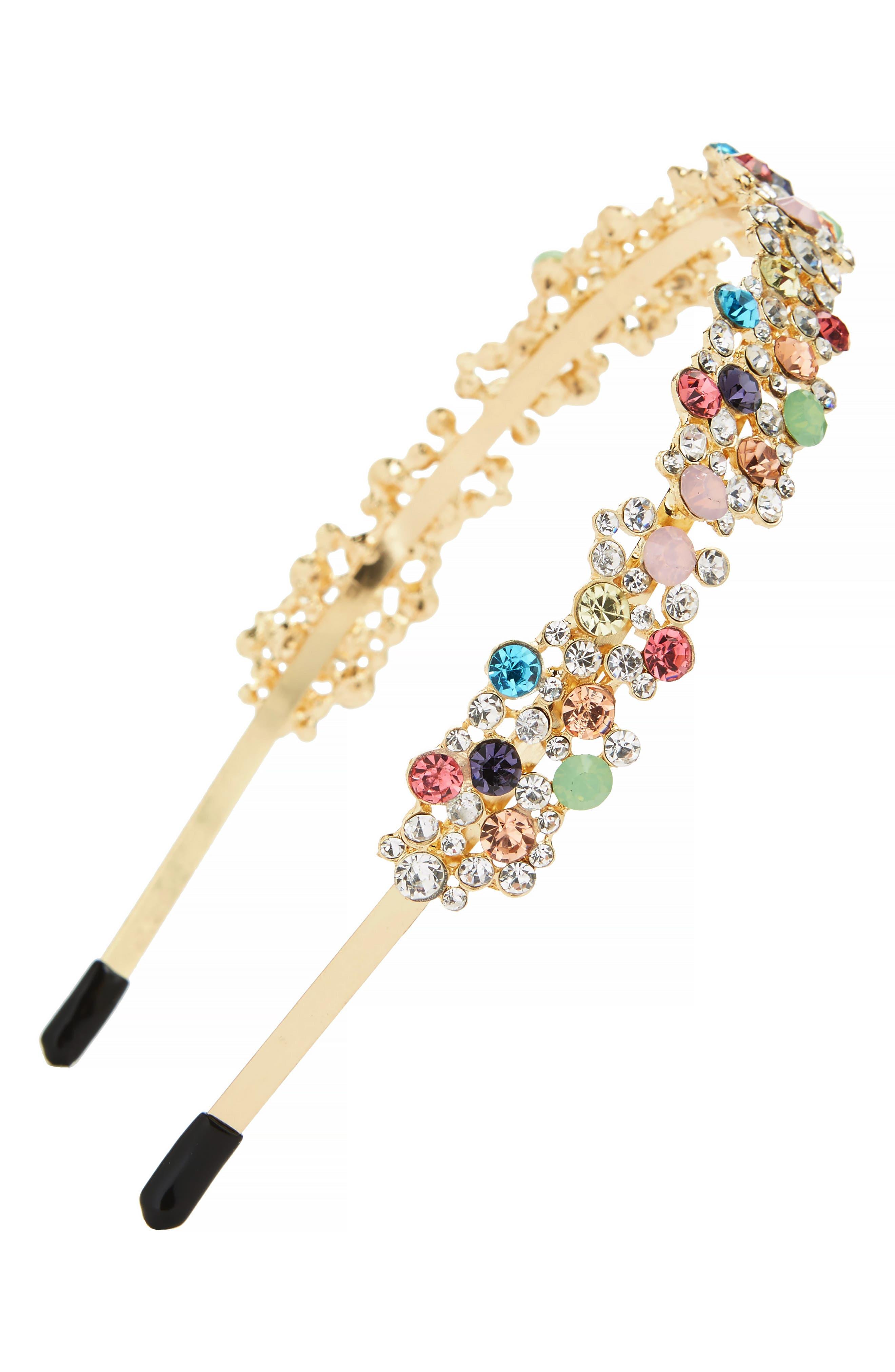 Crystal Cluster Headband,                             Main thumbnail 1, color,                             Multi
