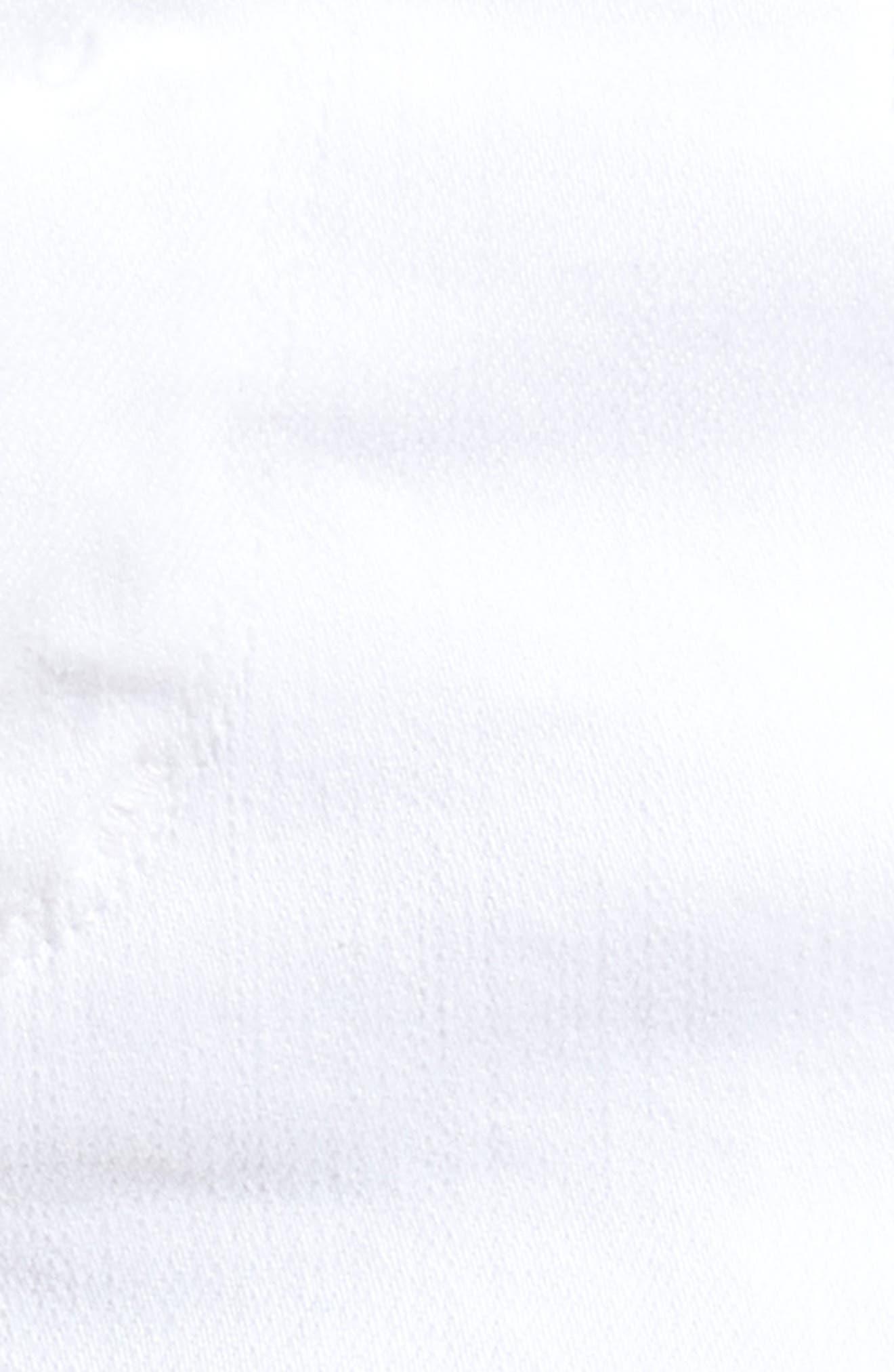 Ava Cutoff Denim Shorts,                             Alternate thumbnail 6, color,                             Optic White