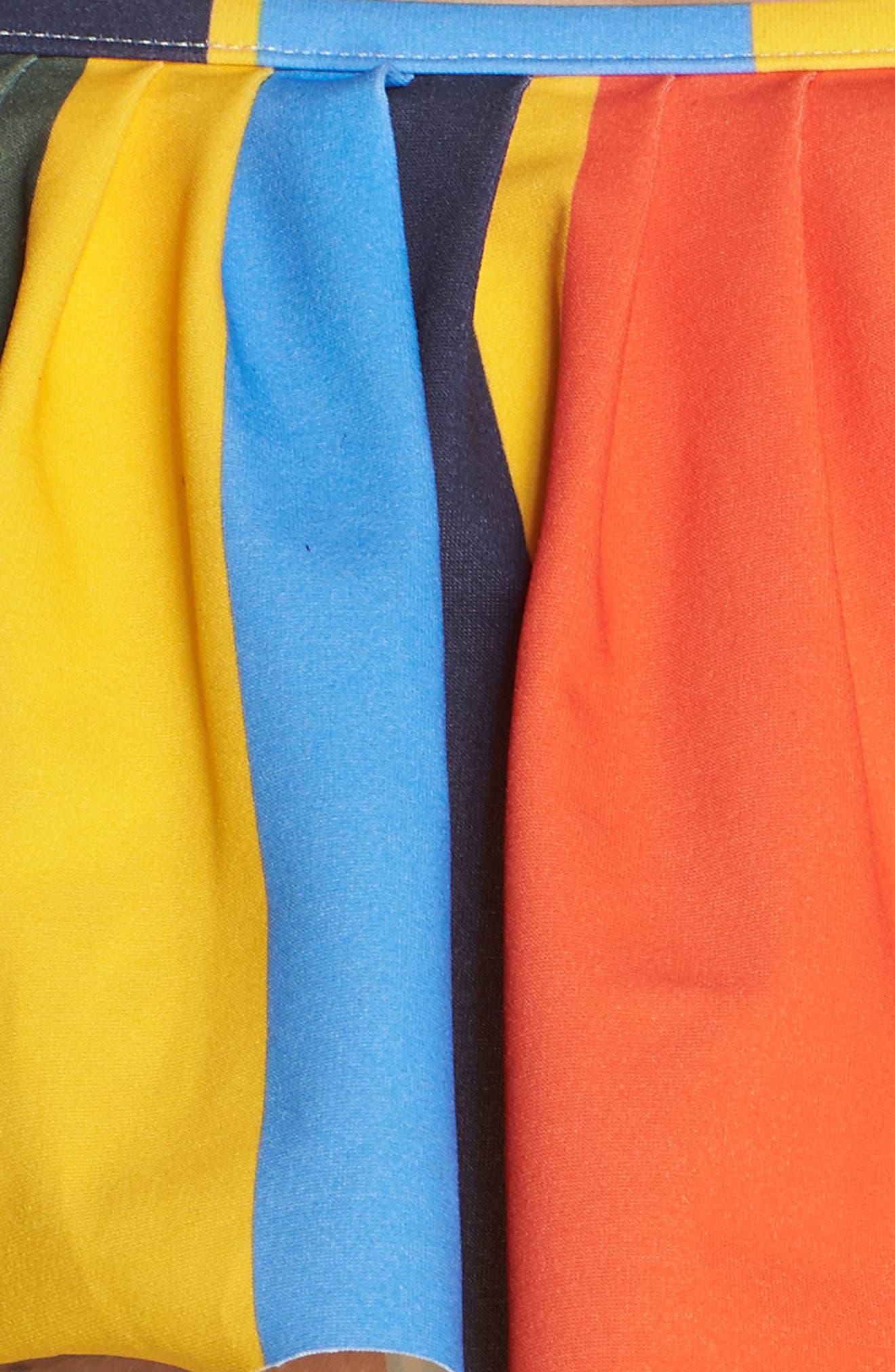 Balloon Stripe Flounce Bikini Top,                             Alternate thumbnail 6, color,                             Tie Dye Balloon Stripe