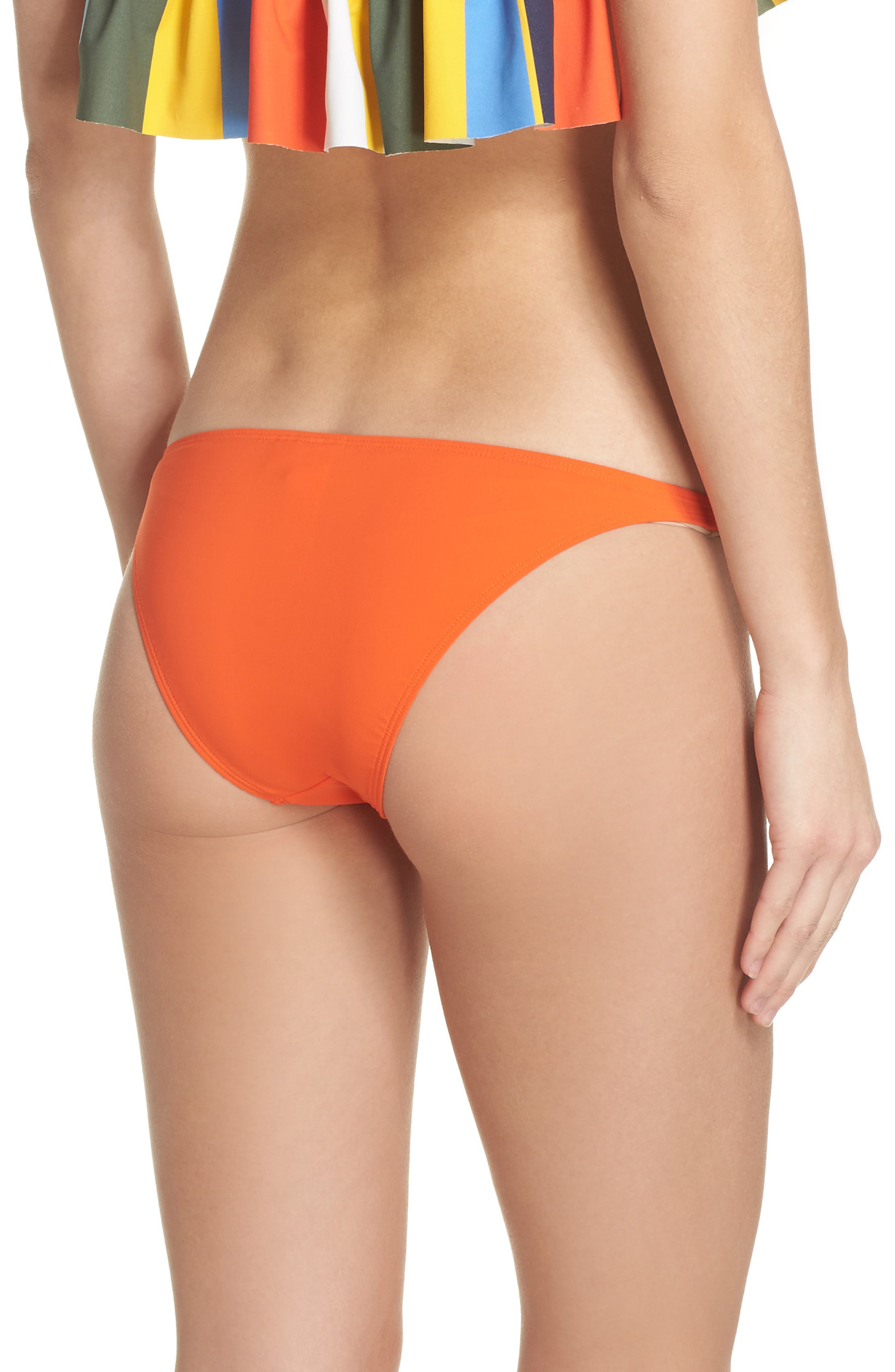 Hipster Bikini Bottoms,                             Alternate thumbnail 2, color,                             Sweet Tangerine