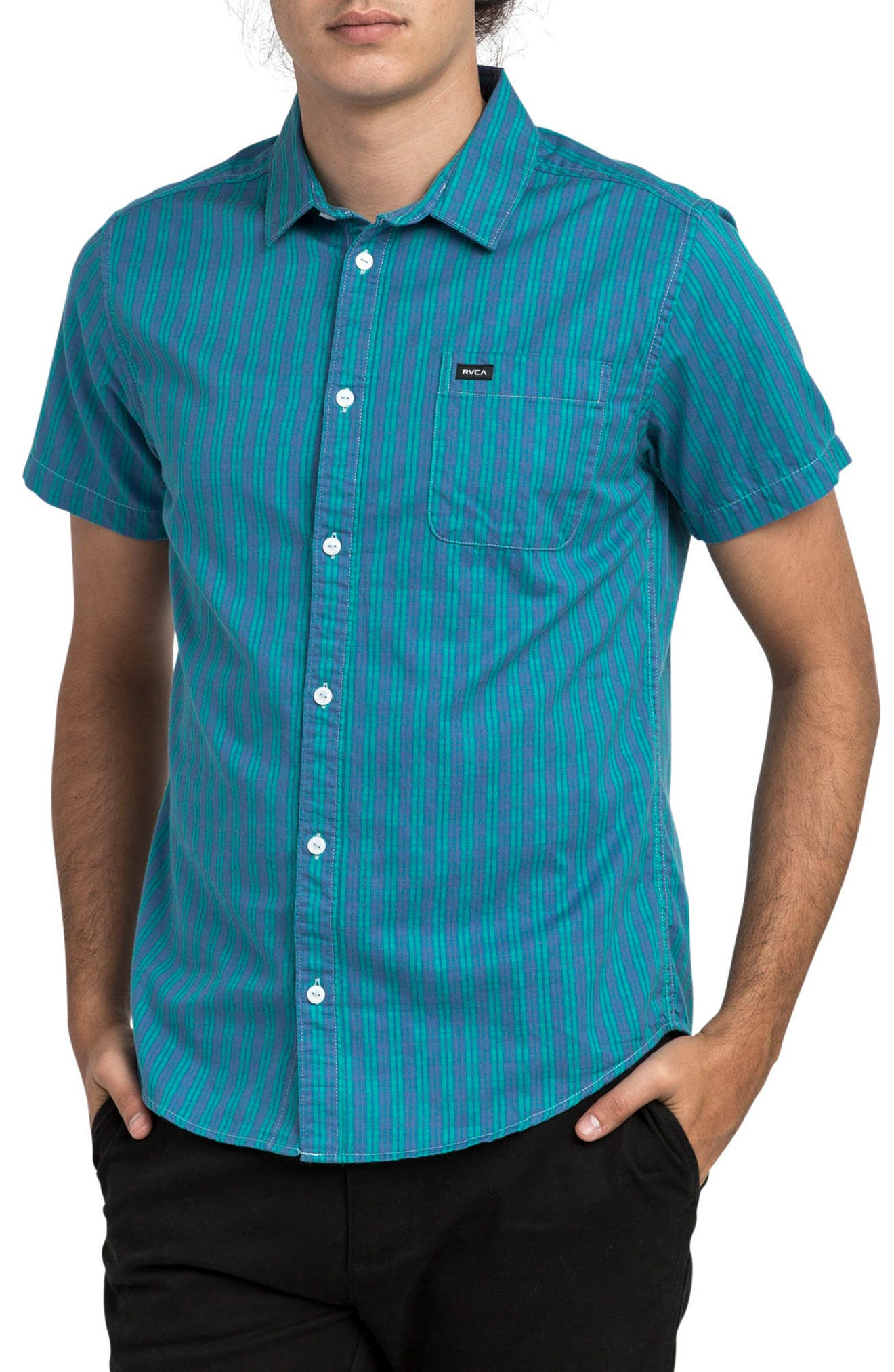 Delivery Woven Shirt,                         Main,                         color, Cobalt