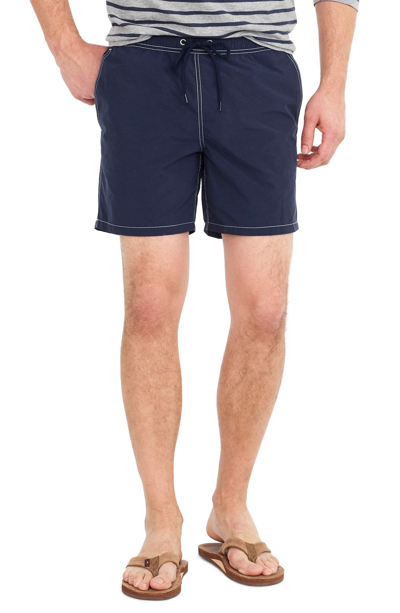 J.Crew Solid Swim Trunks