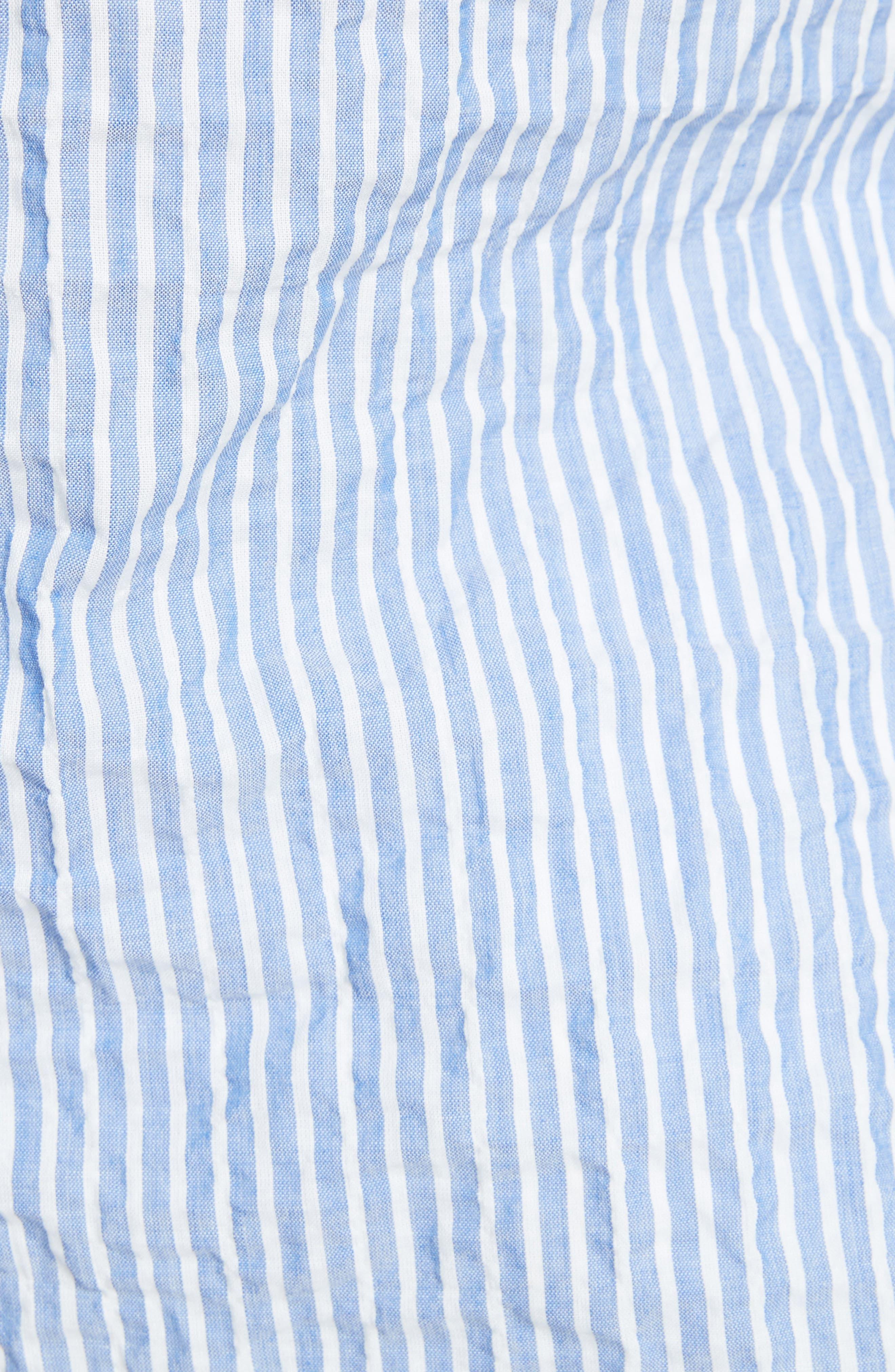 Classic Button Down Shirt,                             Alternate thumbnail 5, color,                             Blue/ White