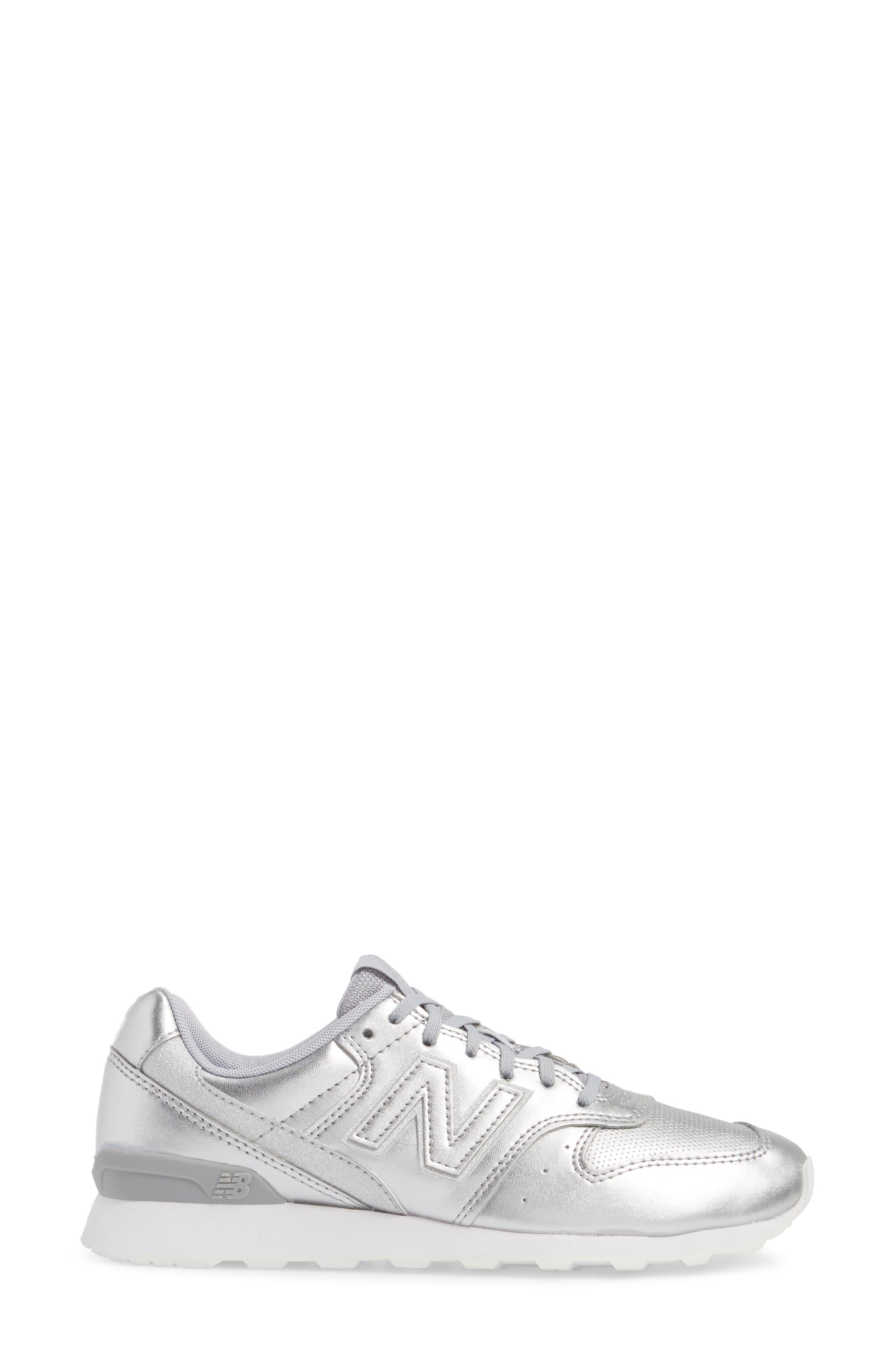 696 Sneaker,                             Alternate thumbnail 3, color,                             Metallic Silver