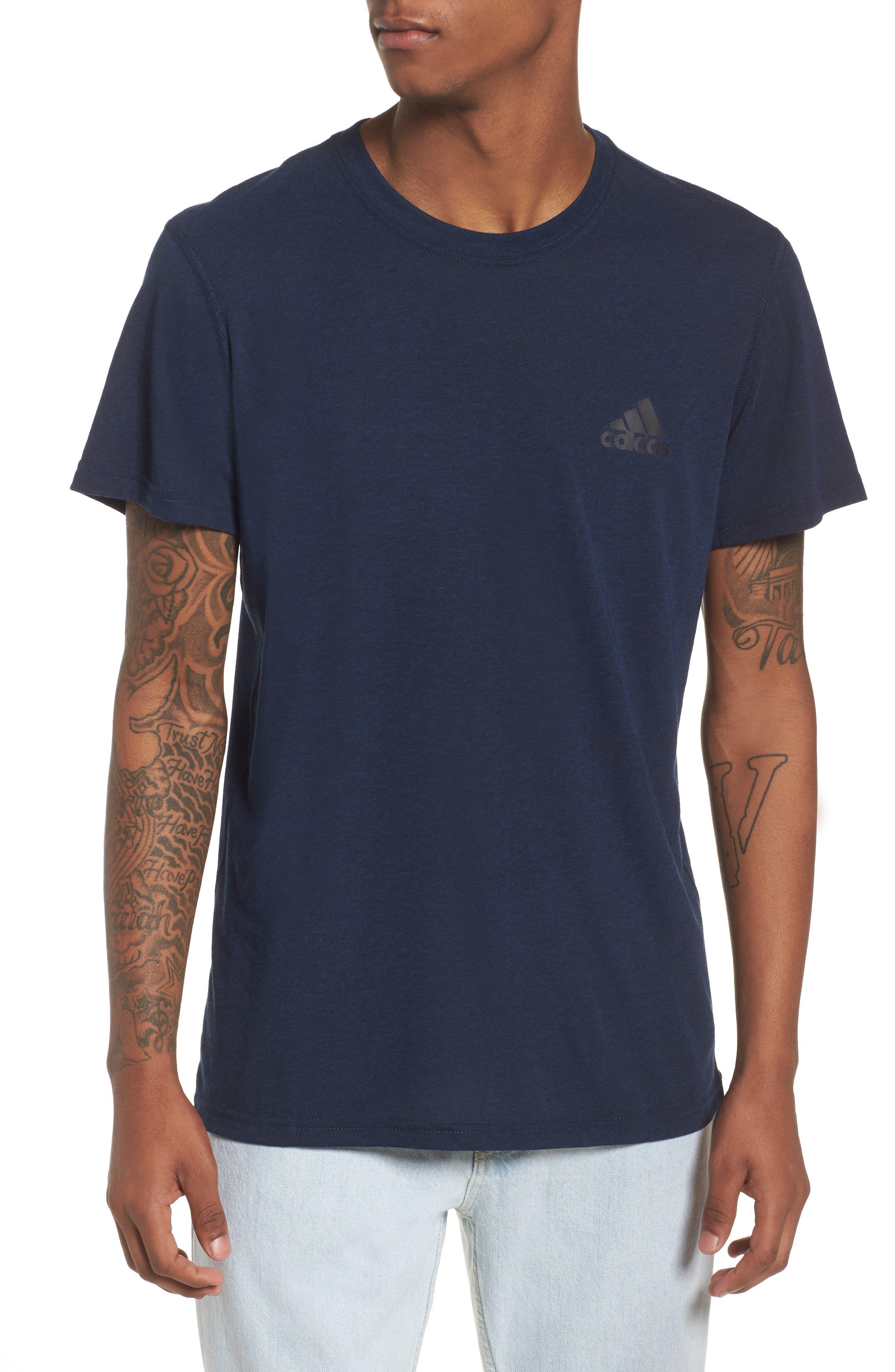 Ult Crewneck T-Shirt,                         Main,                         color, Black/ Royal/ Heather