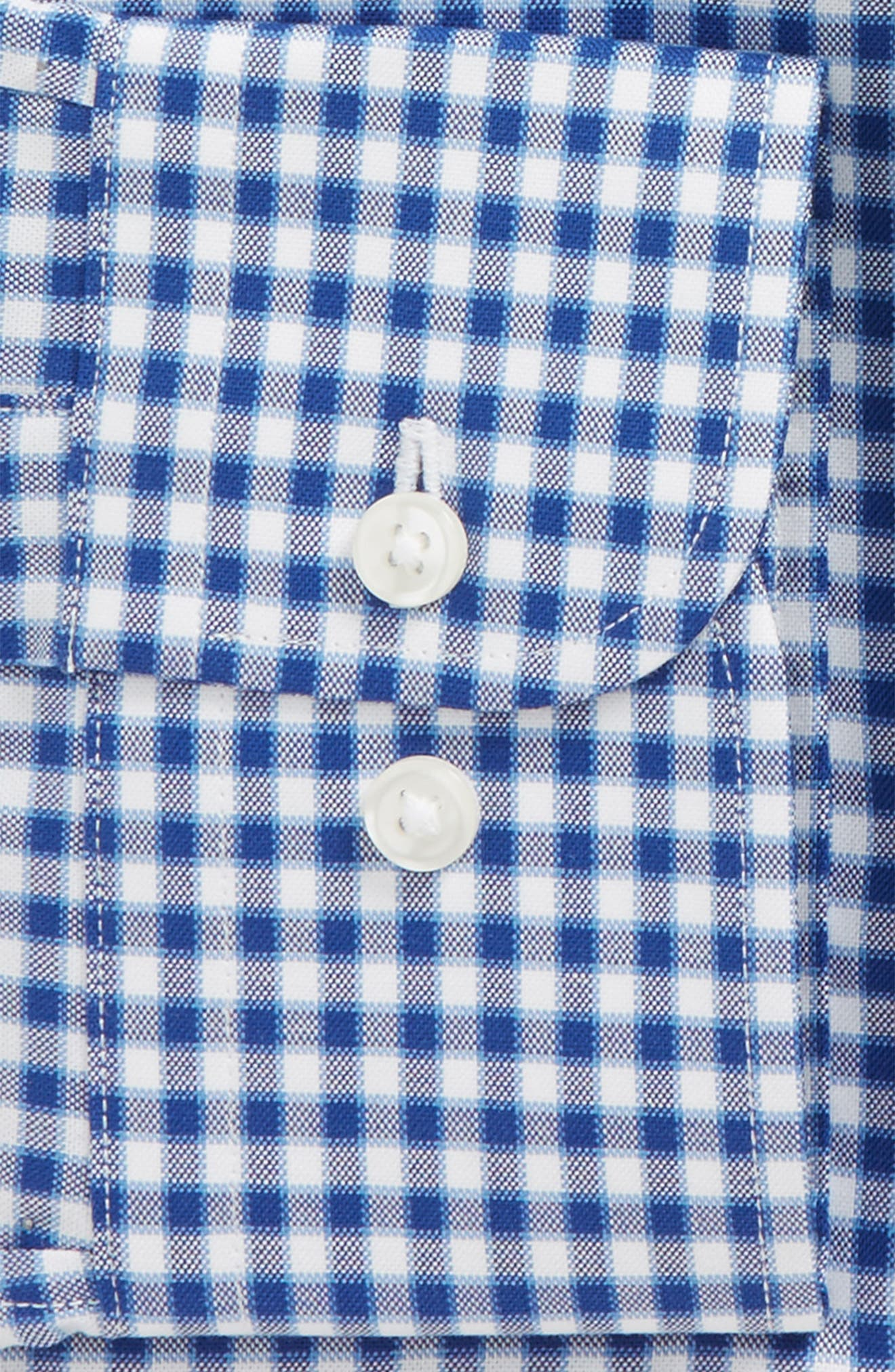 Traditional Fit Check Dress Shirt,                             Alternate thumbnail 2, color,                             Blue Sodalite