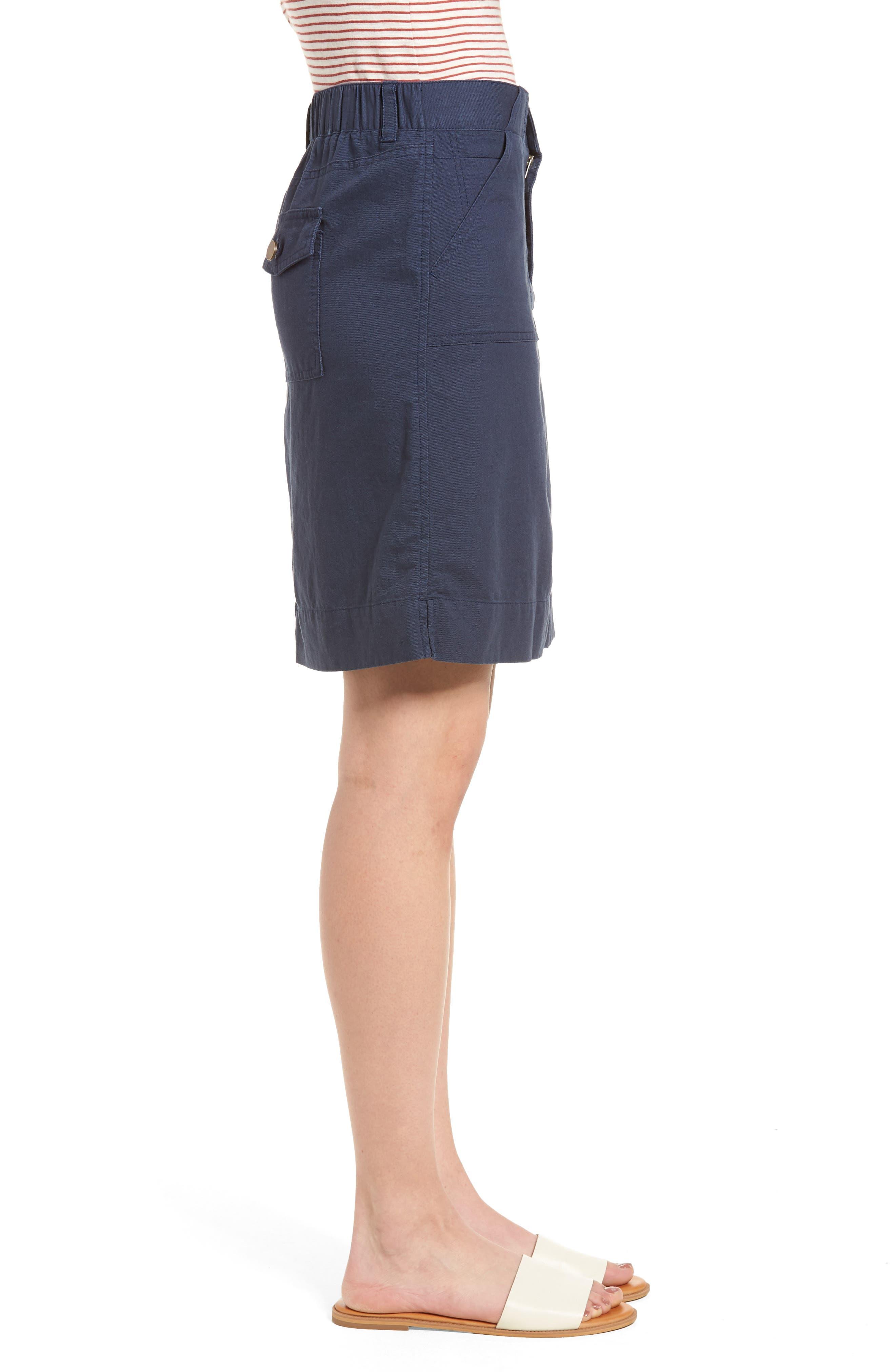 Twill Utility Skirt,                             Alternate thumbnail 3, color,                             Navy Indigo