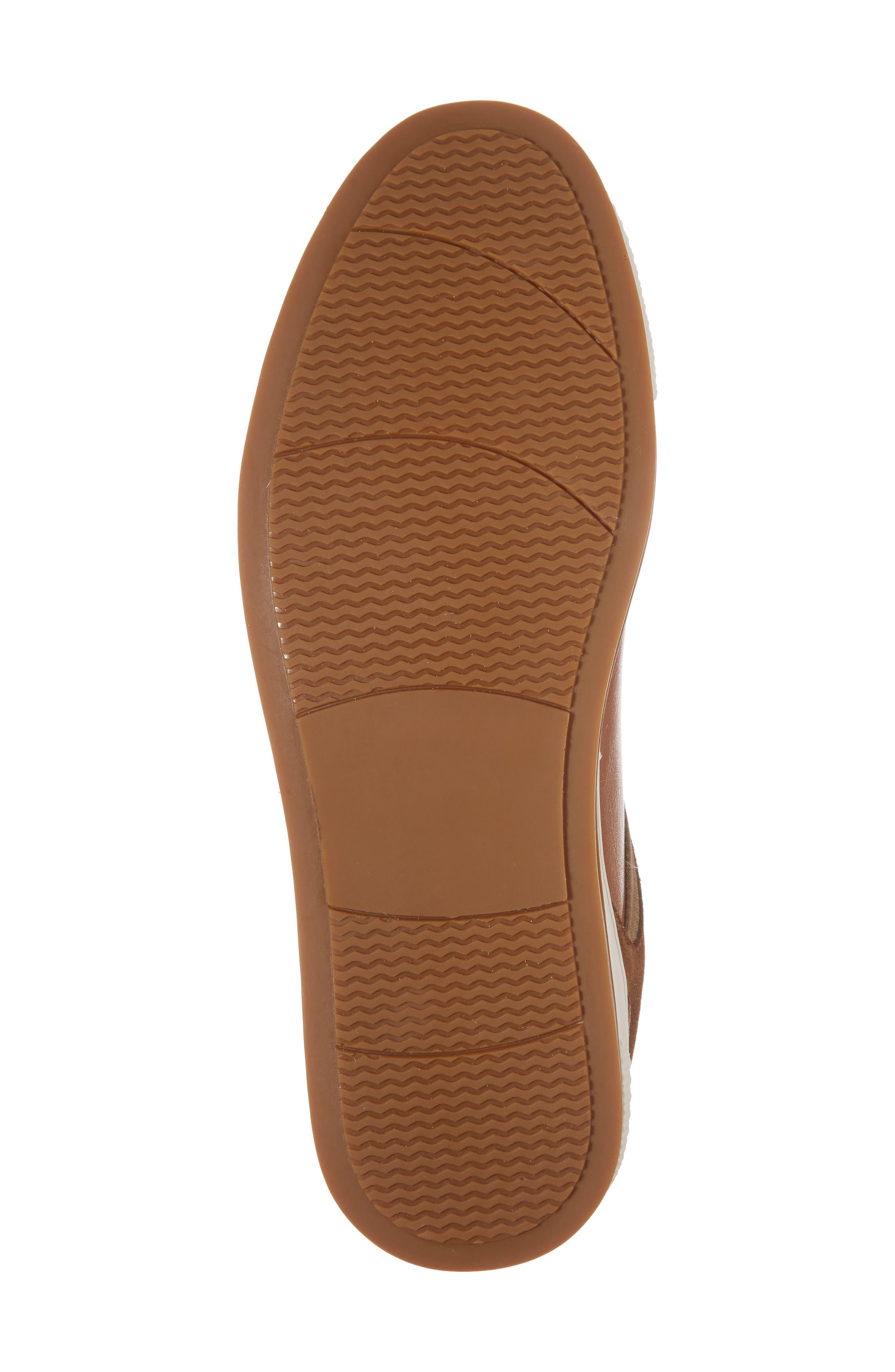 Ireton Low Top Sneaker,                             Alternate thumbnail 6, color,                             Cognac Leather/ Suede