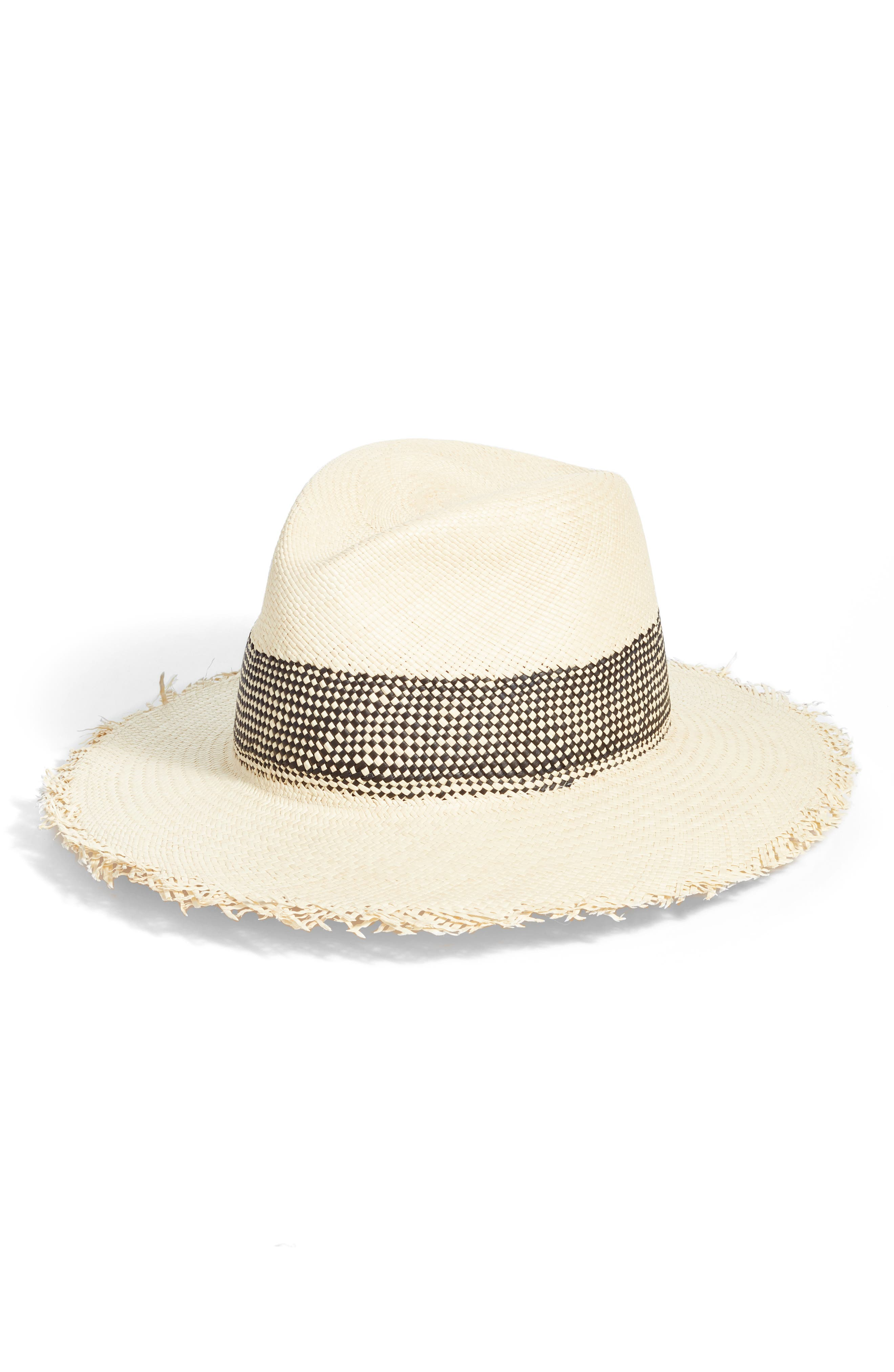 rag & bone Frayed Edge Panama Straw Hat