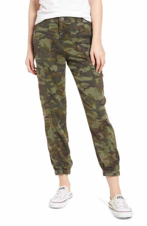 Love, Fire Camo Print Cargo Pants