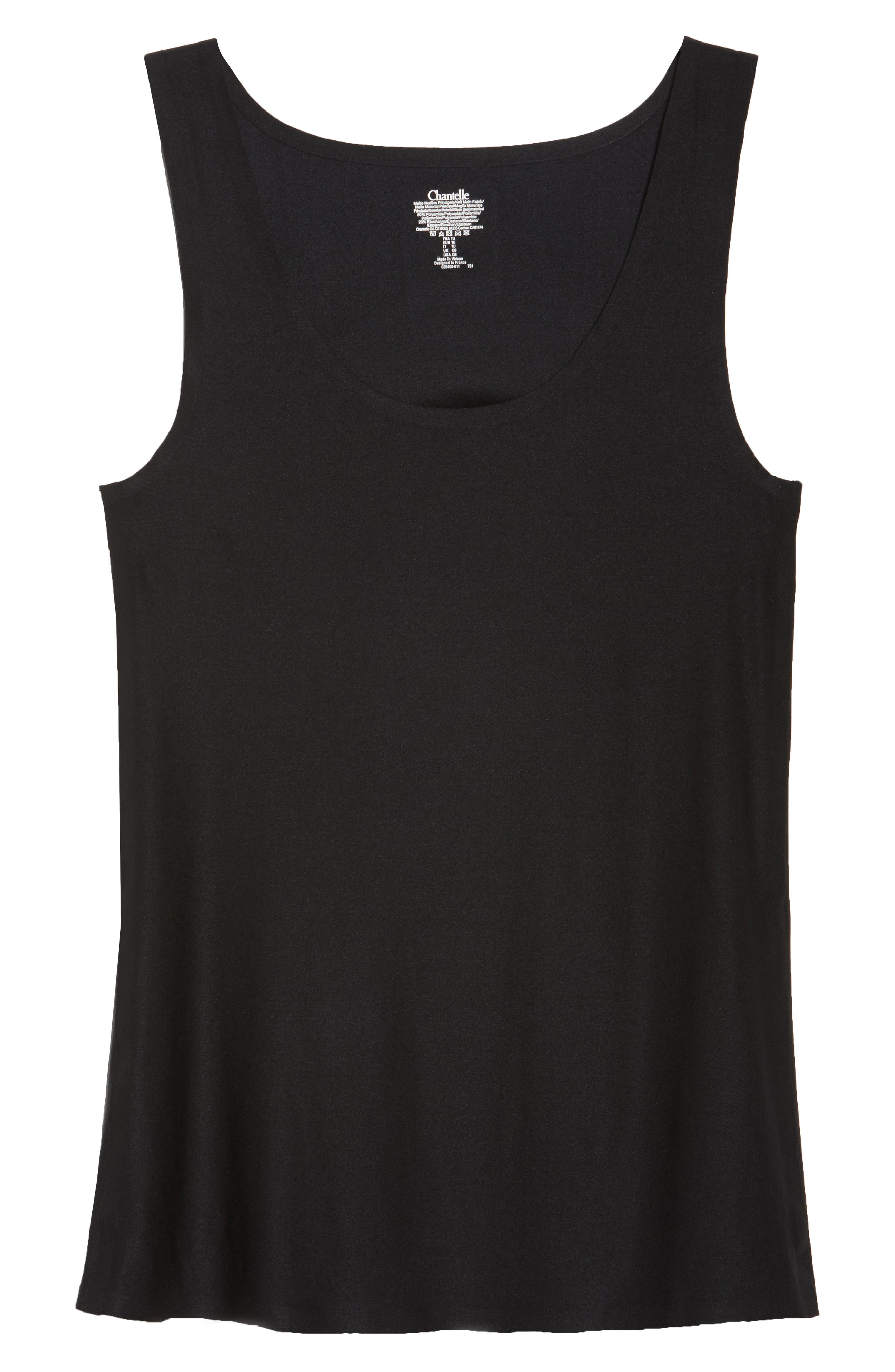 Soft Stretch Smooth Tank,                             Alternate thumbnail 4, color,                             Black