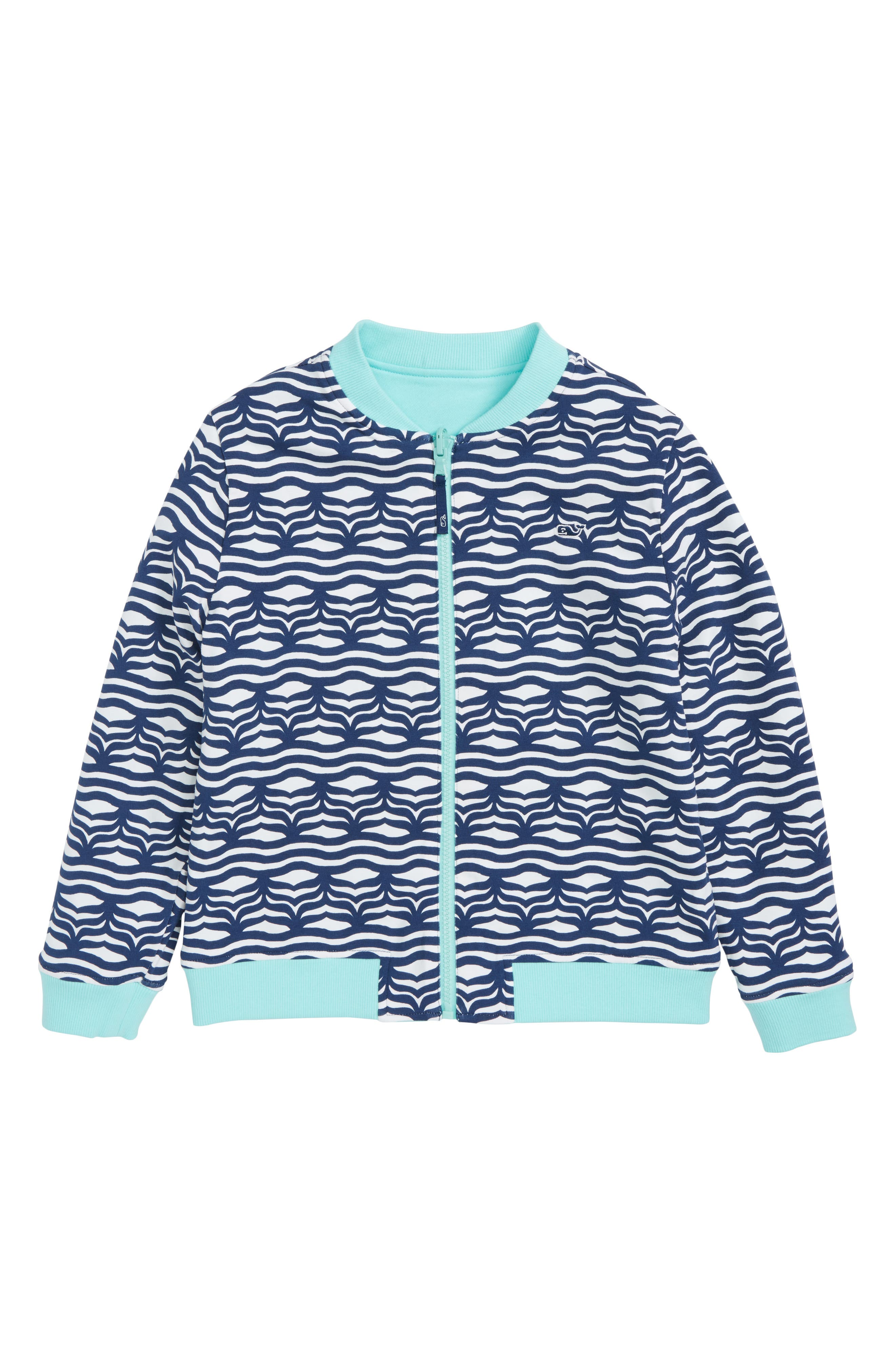 Reversible Full Zip Bomber Jacket,                             Alternate thumbnail 2, color,                             Caicos
