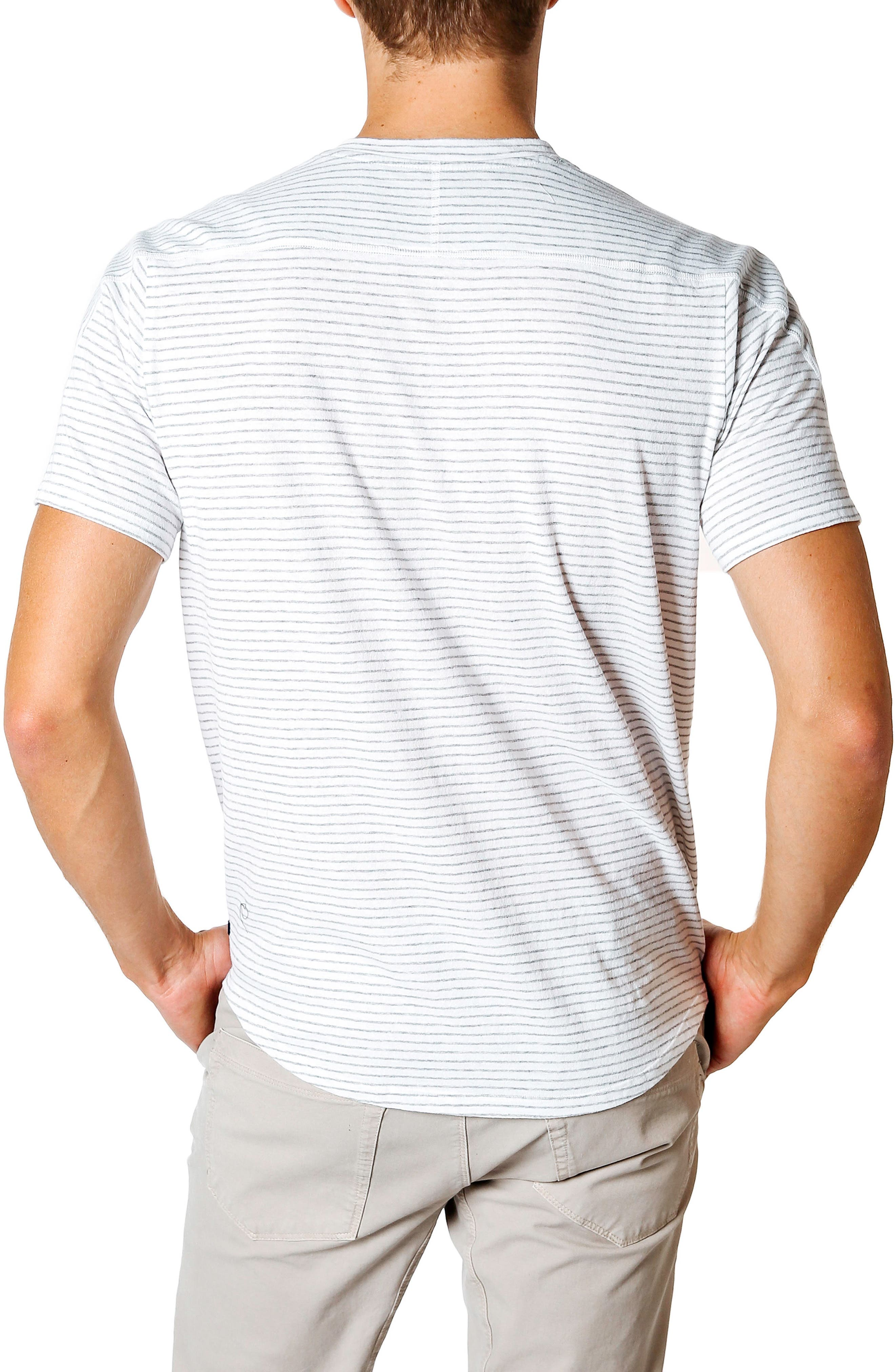 Slim Fit Stripe T-Shirt,                             Alternate thumbnail 2, color,                             White / Grey Heather