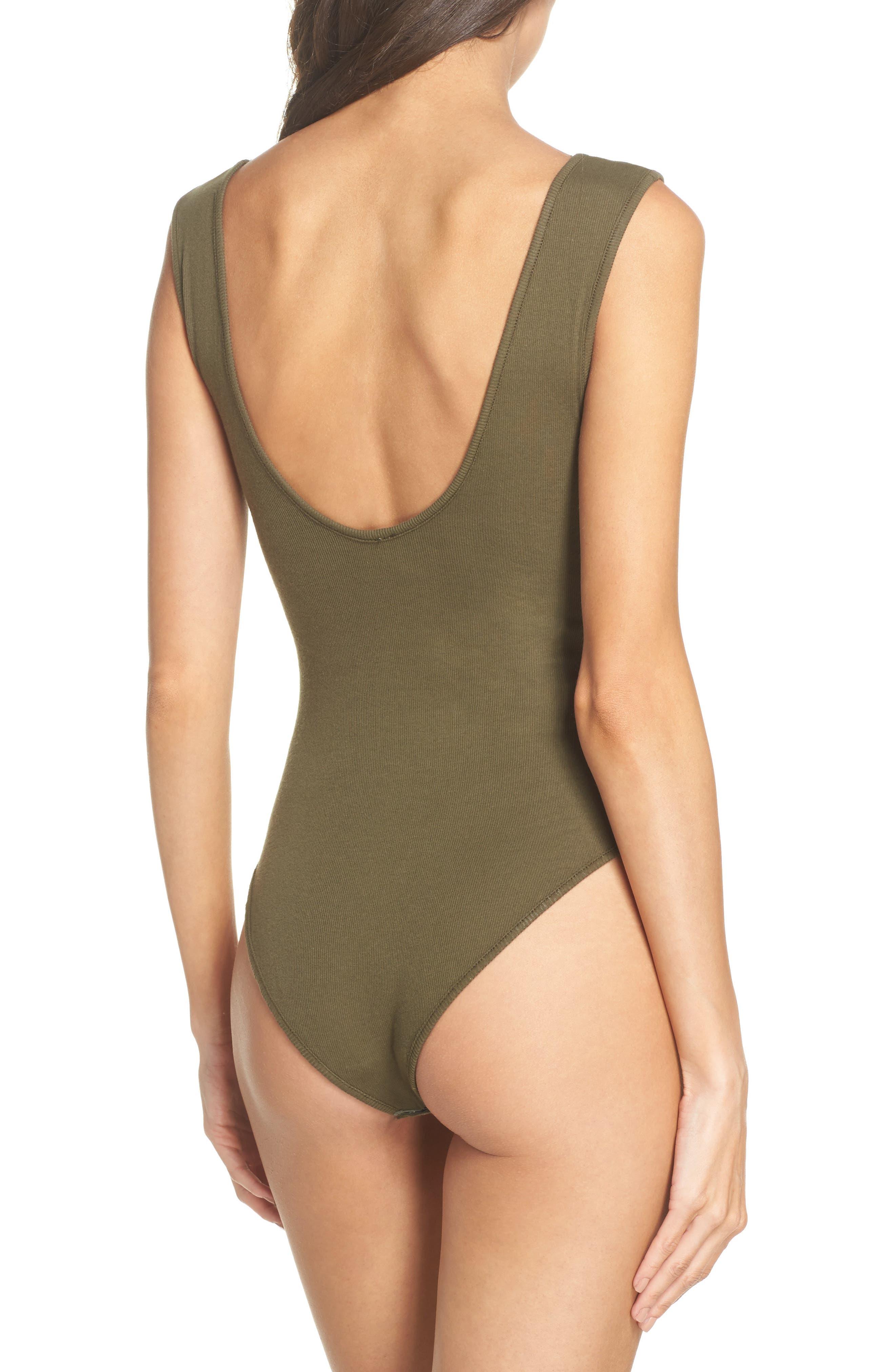 Intimately FP Tank Bodysuit,                             Alternate thumbnail 2, color,                             Army