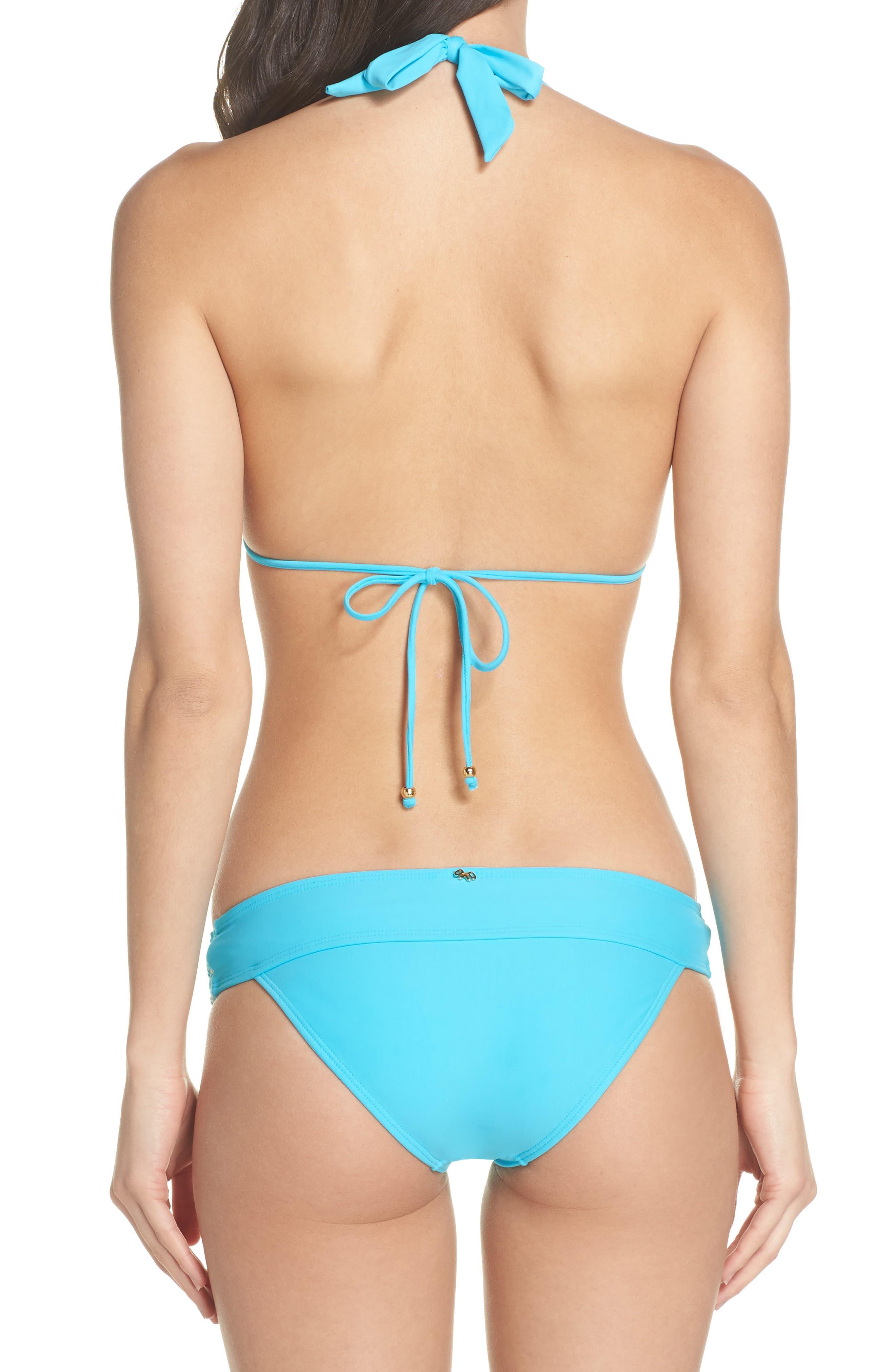 Lace Halter Bikini Top,                             Alternate thumbnail 6, color,                             Marine