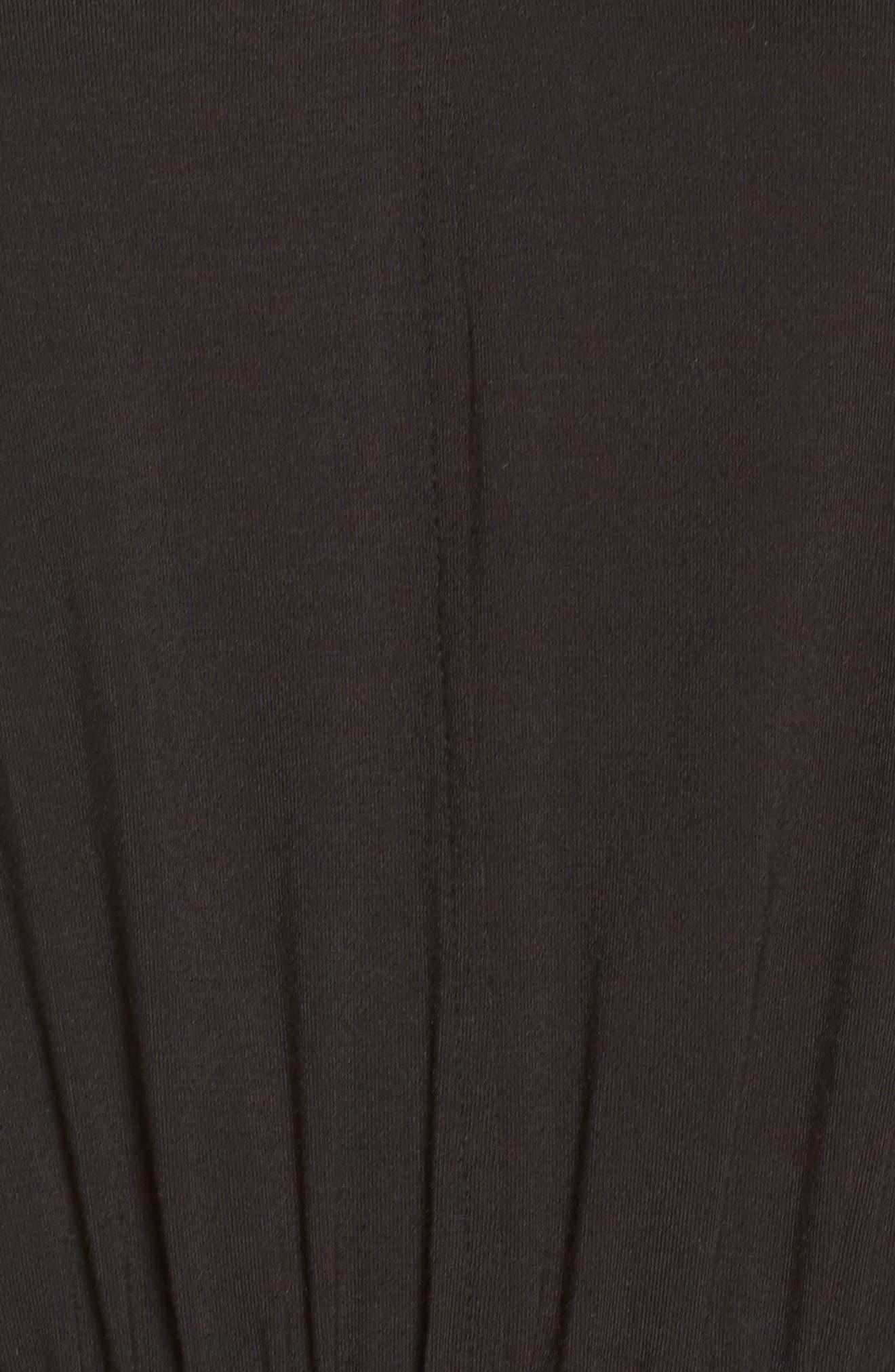 Crop Jumpsuit,                             Alternate thumbnail 6, color,                             Black