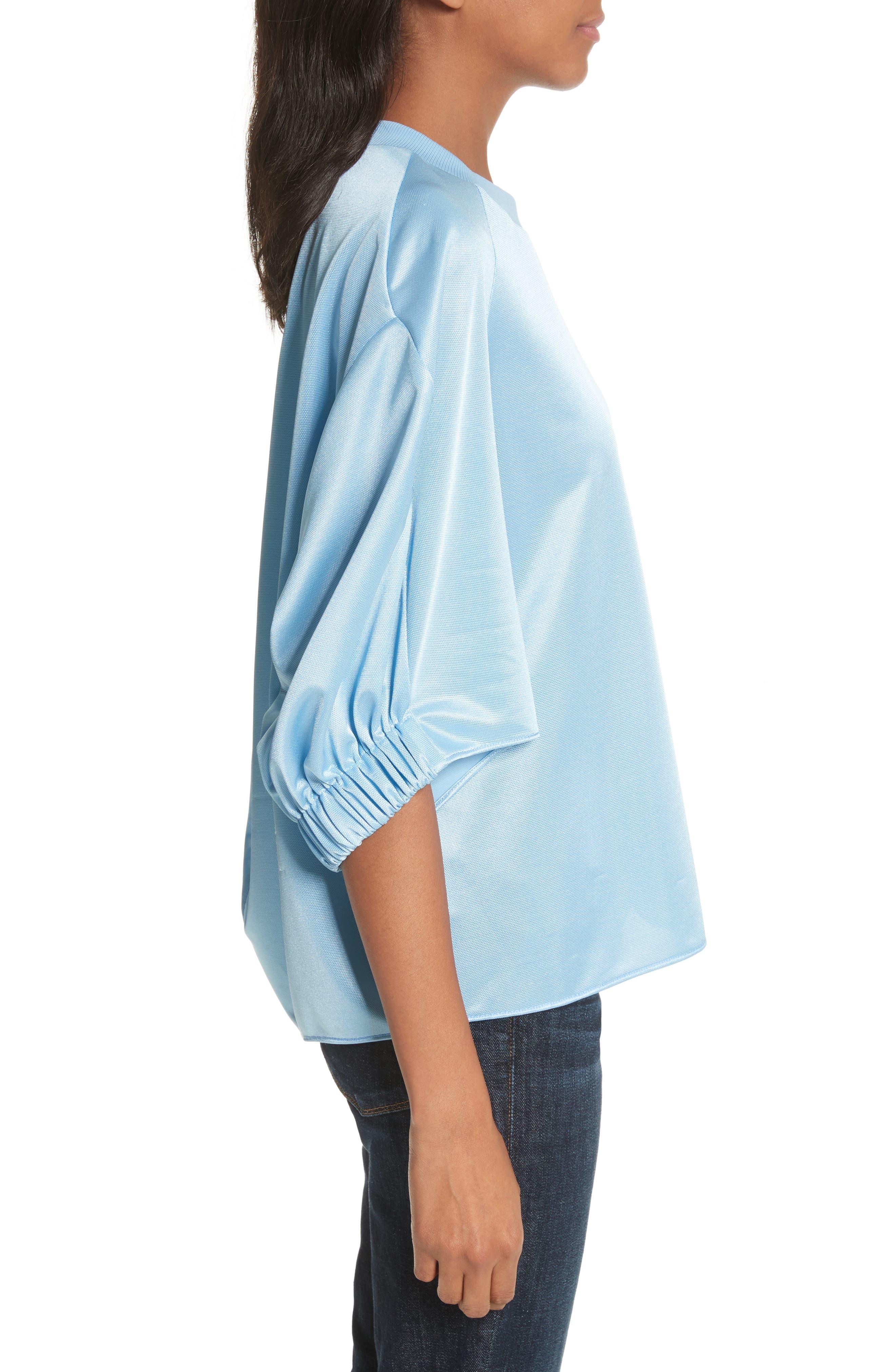 Dolman Sleeve Top,                             Alternate thumbnail 3, color,                             Oxford Blue