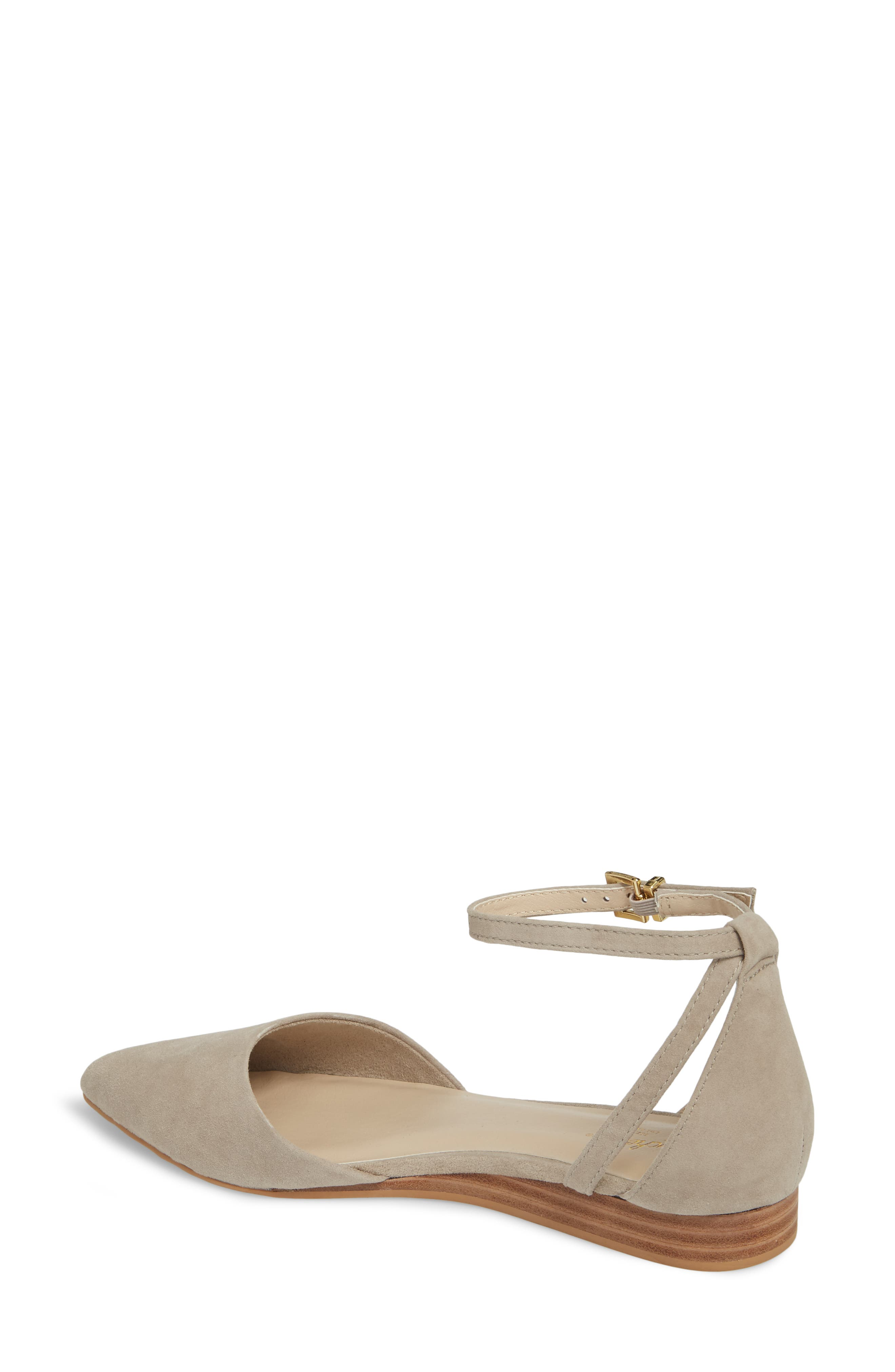 Plateau Ankle Strap Flat,                             Alternate thumbnail 2, color,                             Taupe Suede