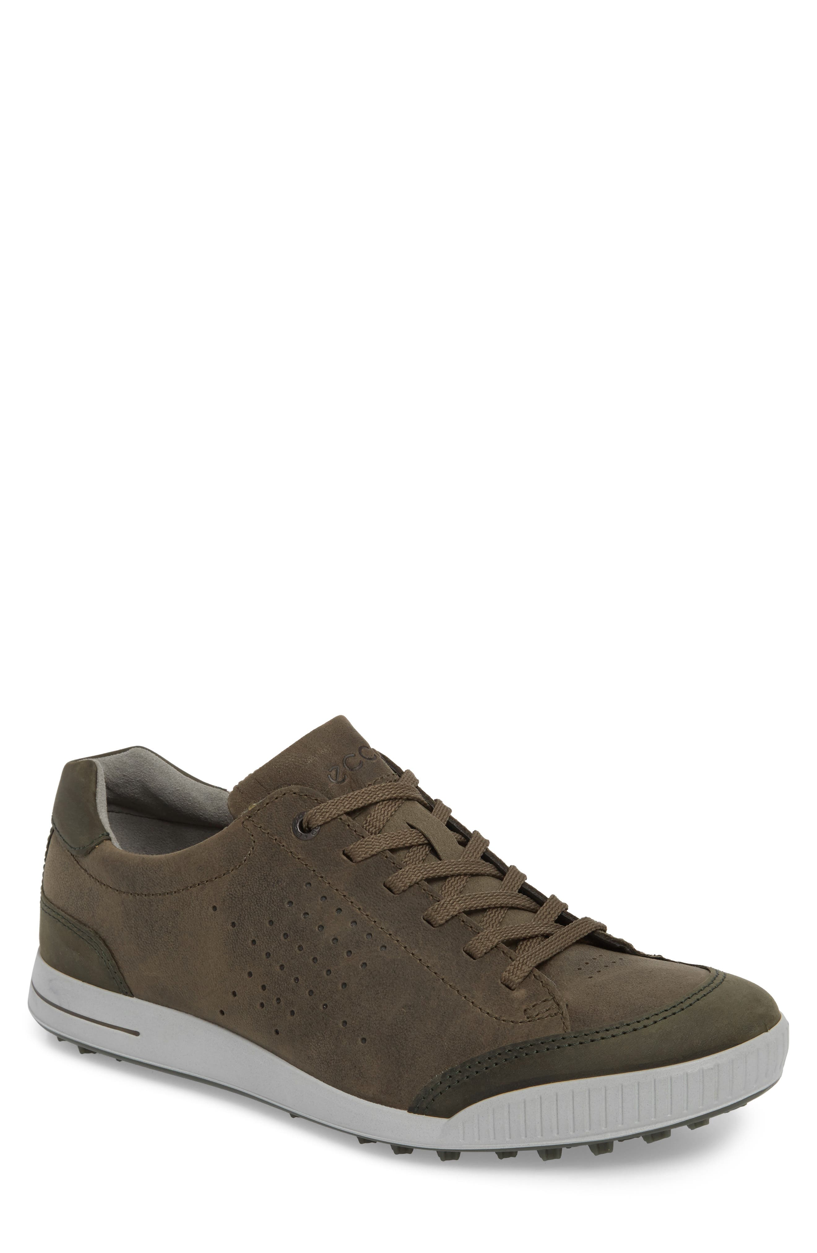 Street Retro HM Golf Shoe,                             Main thumbnail 1, color,                             Tarmac/ Deep Fore Leather