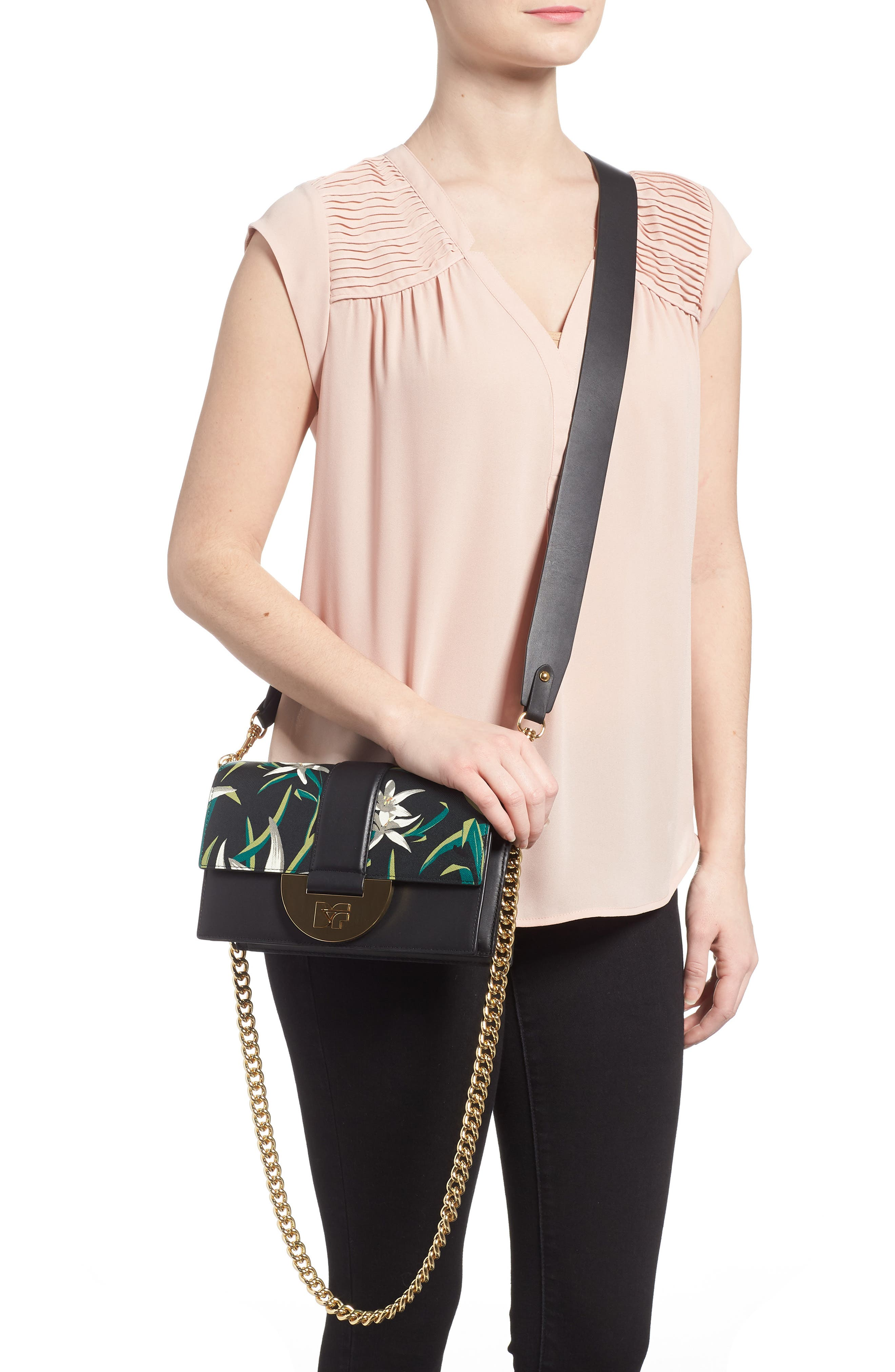 Bonne Journée Half Moon Leather Crossbody Bag,                             Alternate thumbnail 2, color,                             Harlow Black