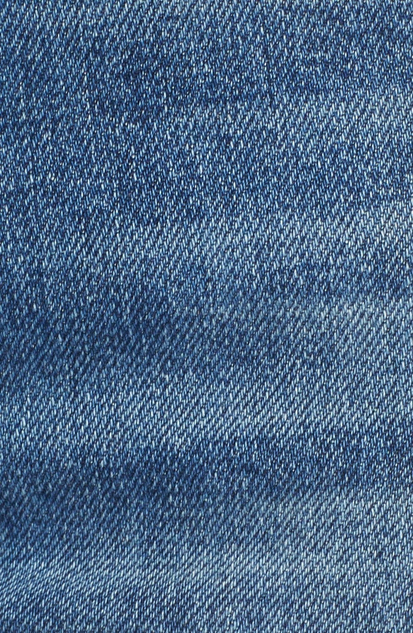 Edie Fray Seams Crop Straight Leg Jeans,                             Alternate thumbnail 6, color,                             Canyon Ranch