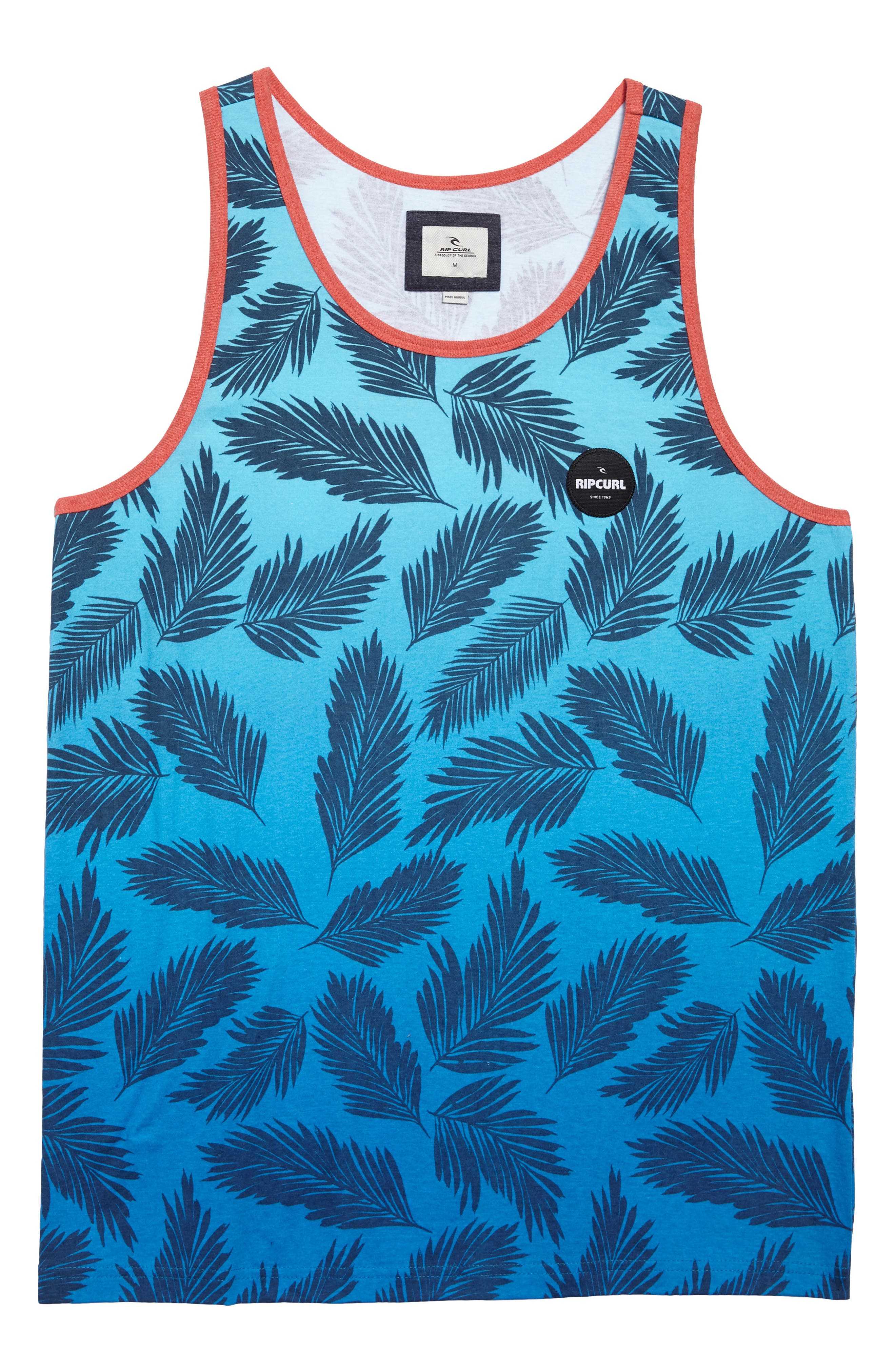 Mason Print Tank,                             Alternate thumbnail 6, color,                             Blu