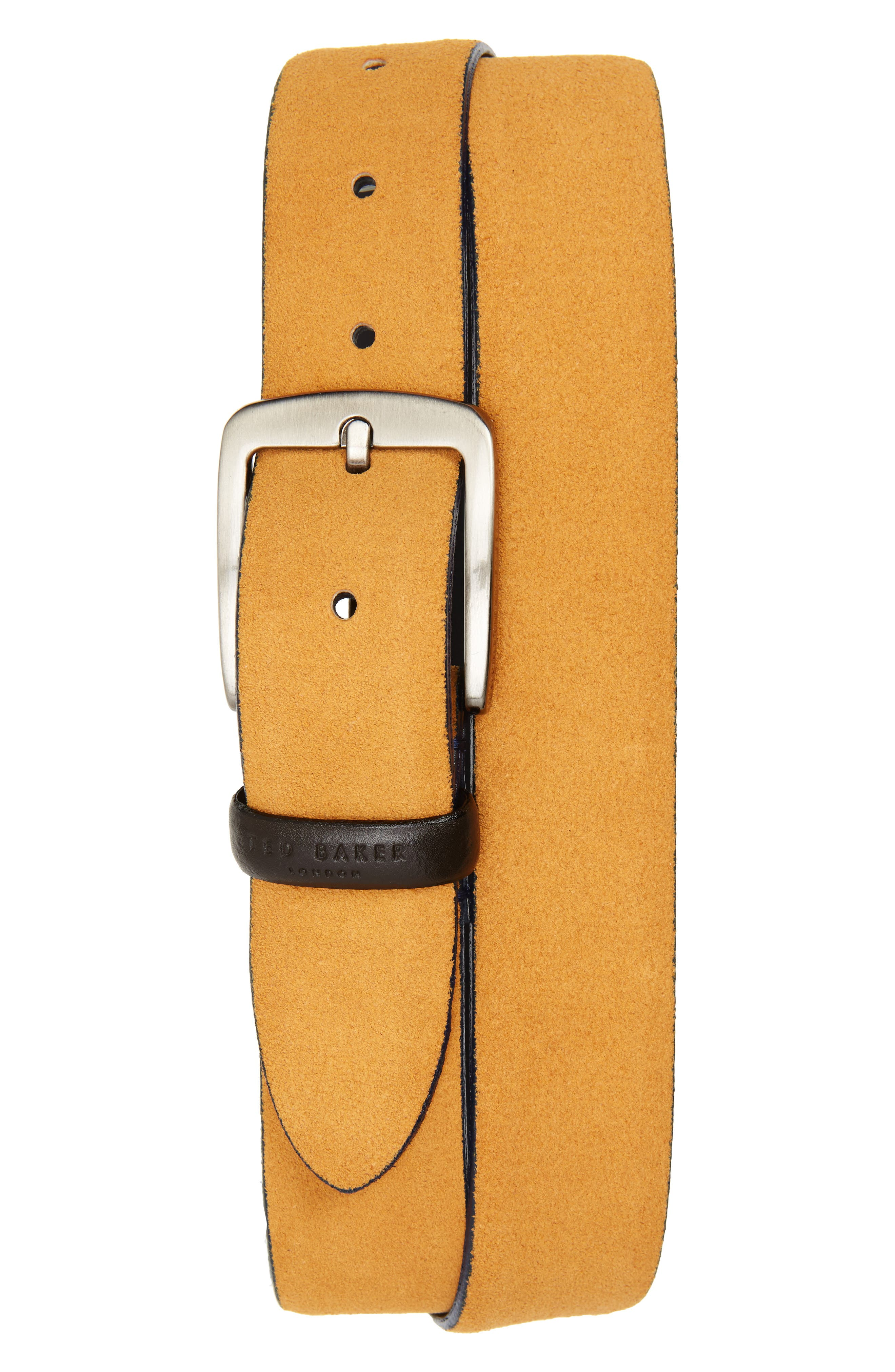 Chatts Suede Belt,                             Main thumbnail 1, color,                             Natural