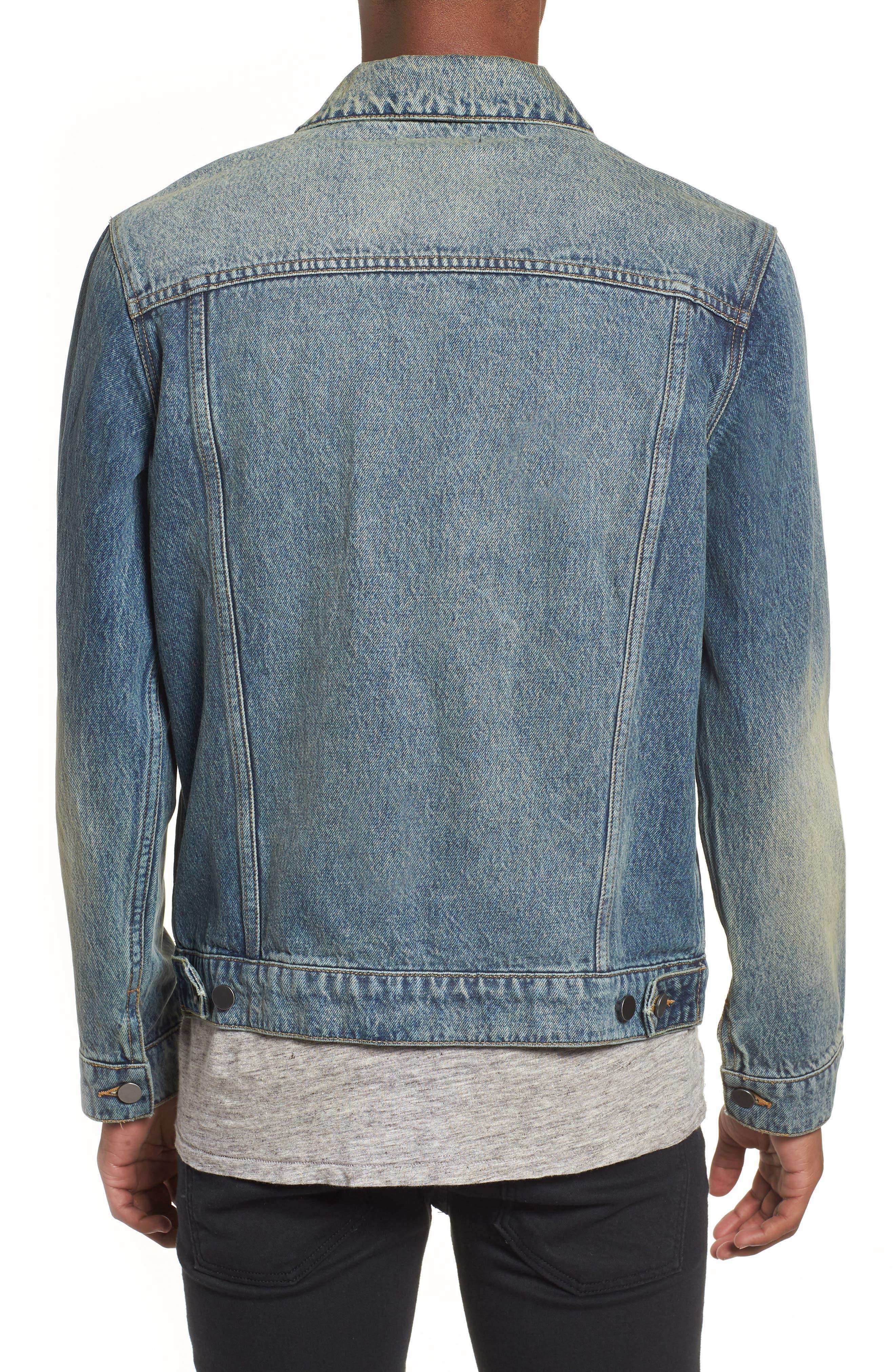 Denim Trucker Jacket,                             Alternate thumbnail 2, color,                             Blue Vintage Wash