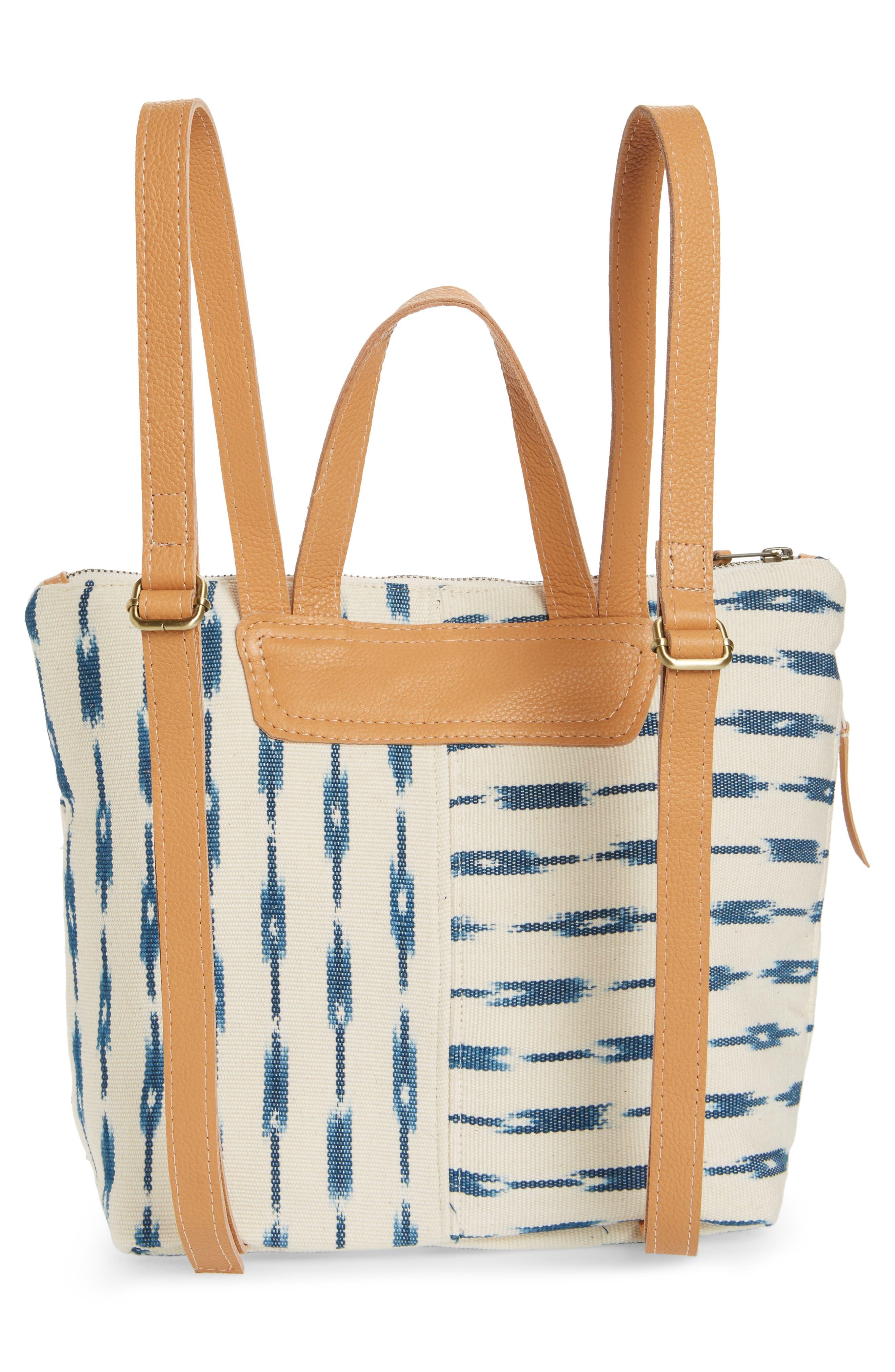 Mini Lobena Backpack,                             Alternate thumbnail 3, color,                             Indigo Jaspe