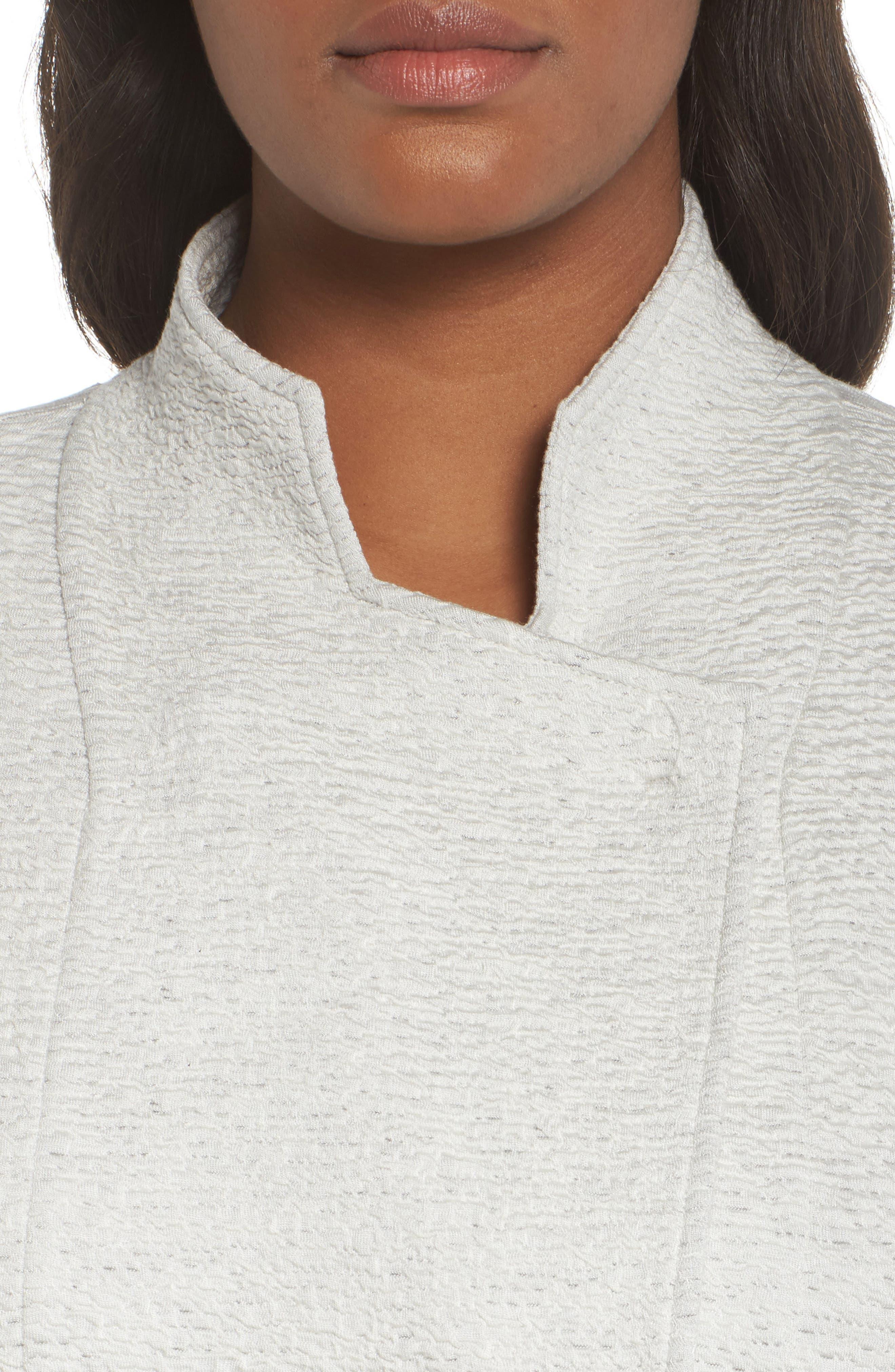 Textured Tencel<sup>®</sup> Lyocell Kimono Jacket,                             Alternate thumbnail 4, color,                             White