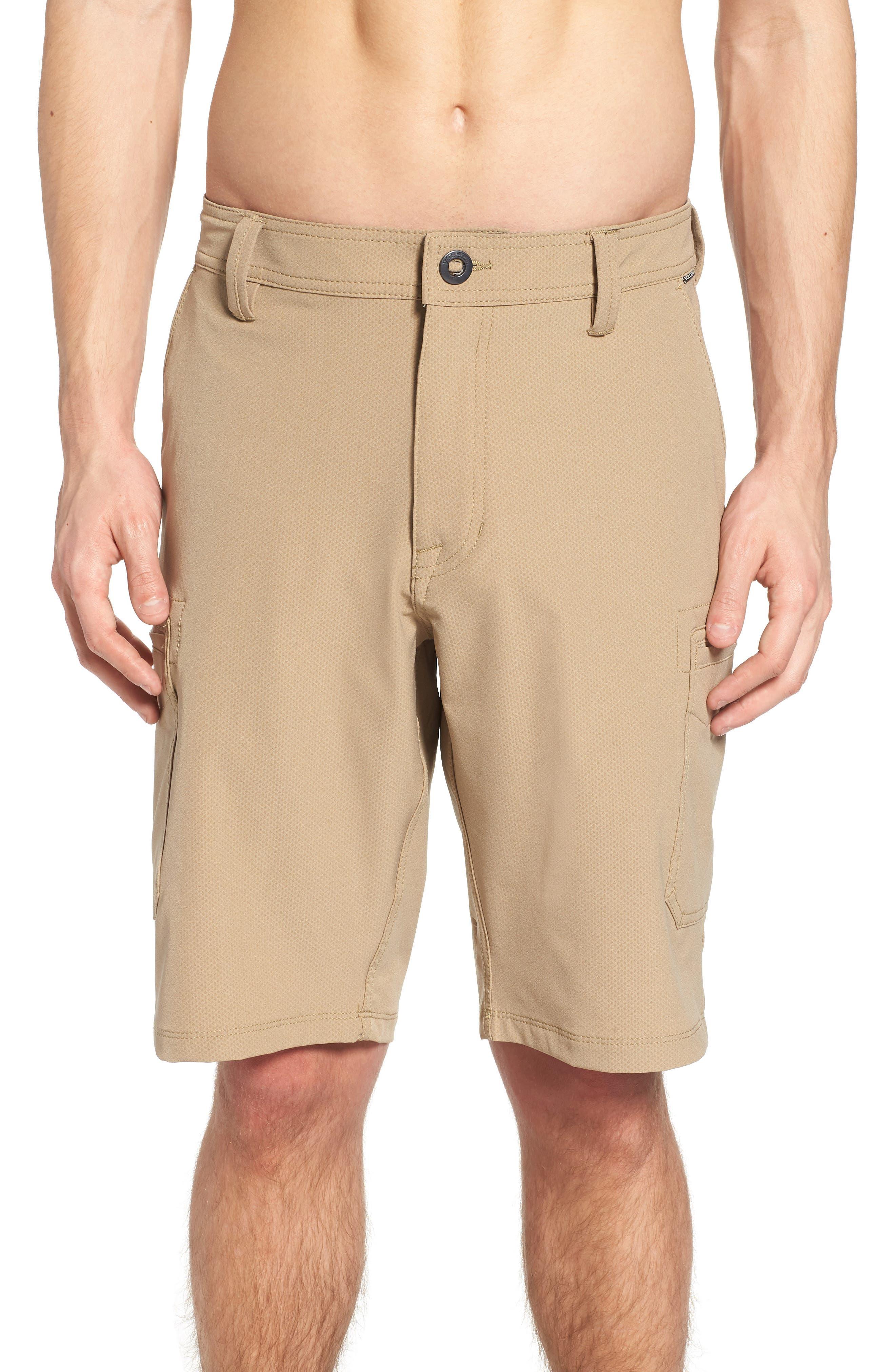 Surf N' Turf Dry Cargo Hybrid Shorts,                             Alternate thumbnail 4, color,                             Khaki
