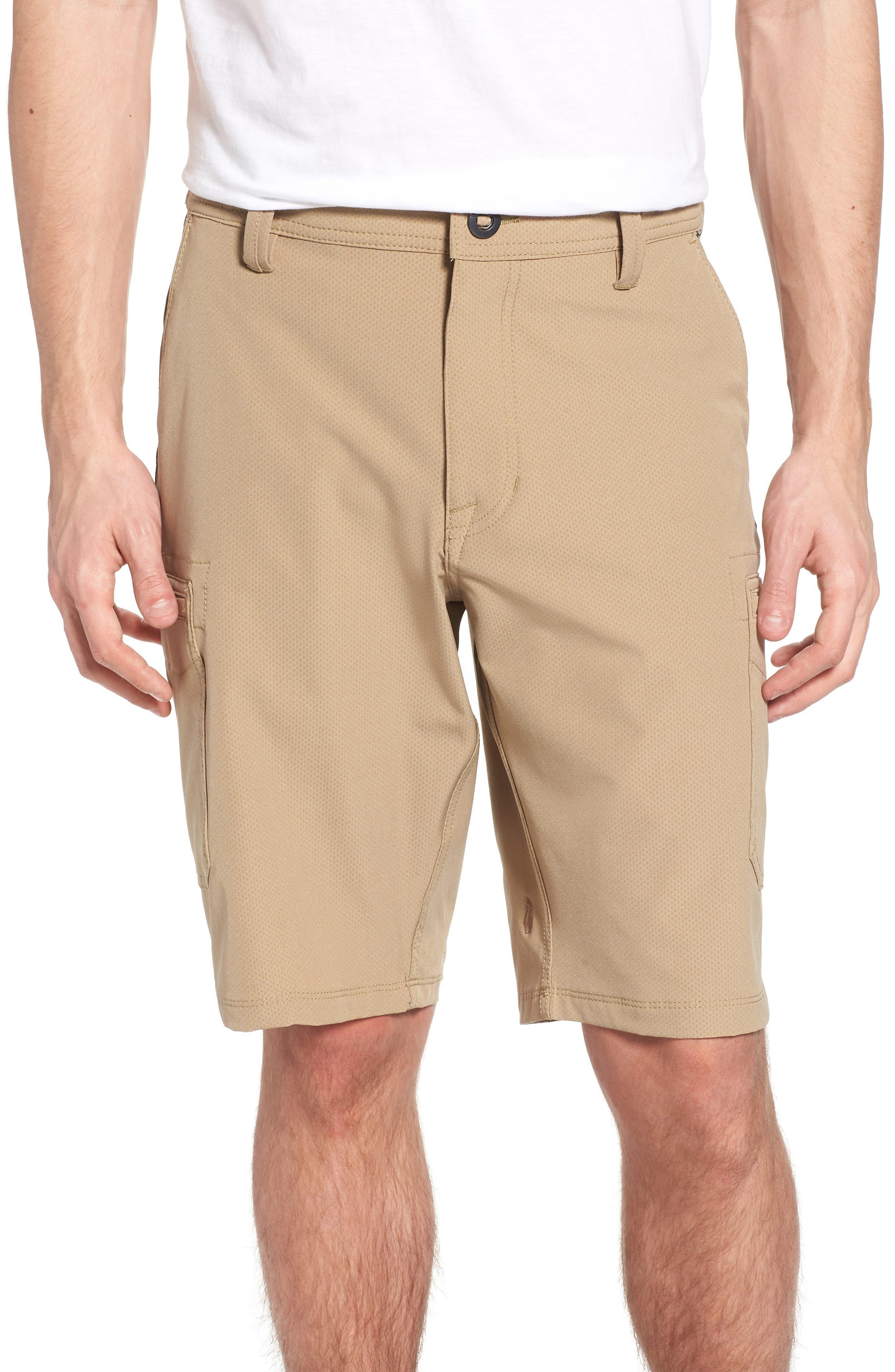 Surf N' Turf Dry Cargo Hybrid Shorts,                             Main thumbnail 1, color,                             Khaki