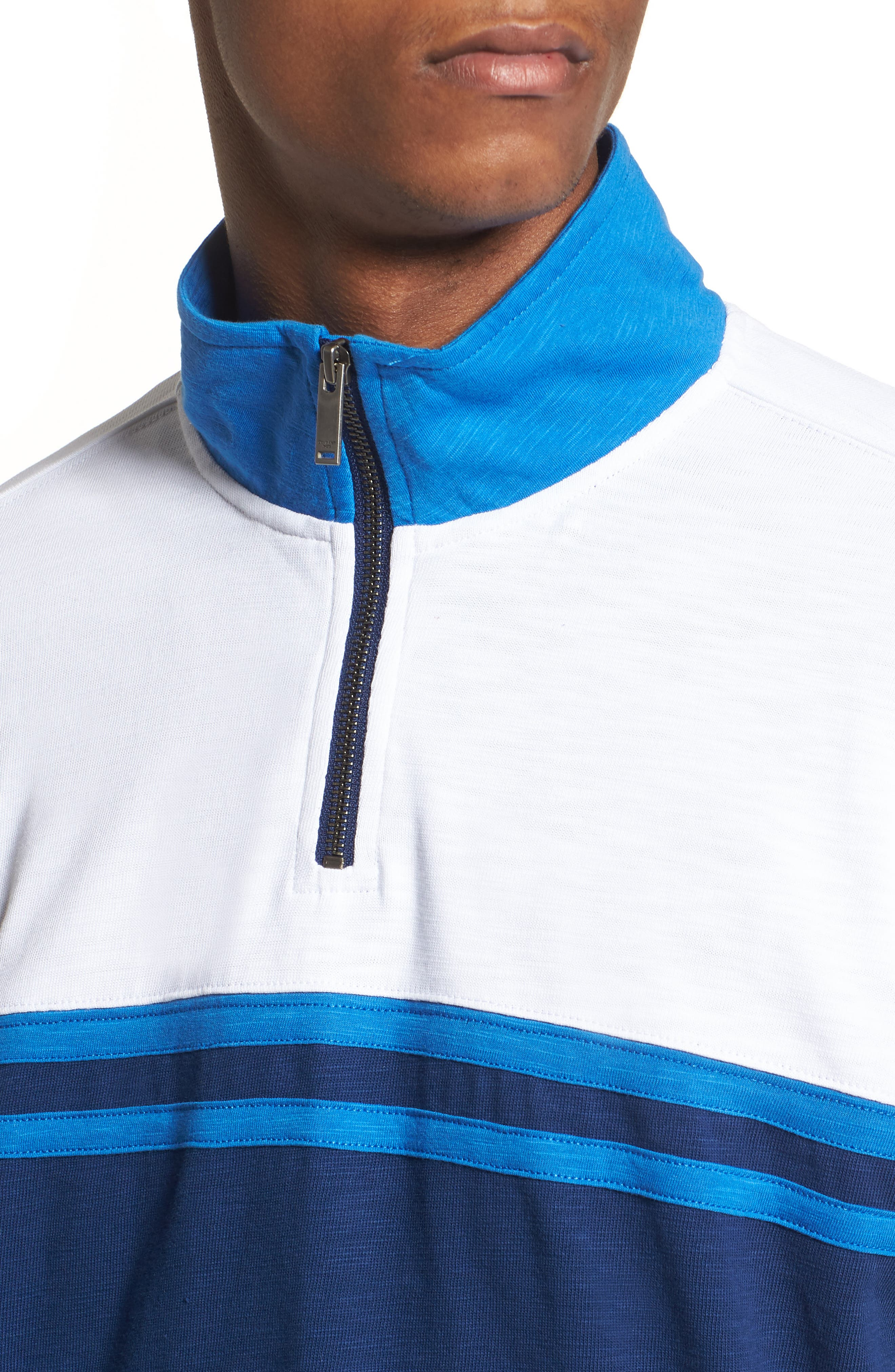 Quarter-Zip Rugby Shirt,                             Alternate thumbnail 4, color,                             Night Rider