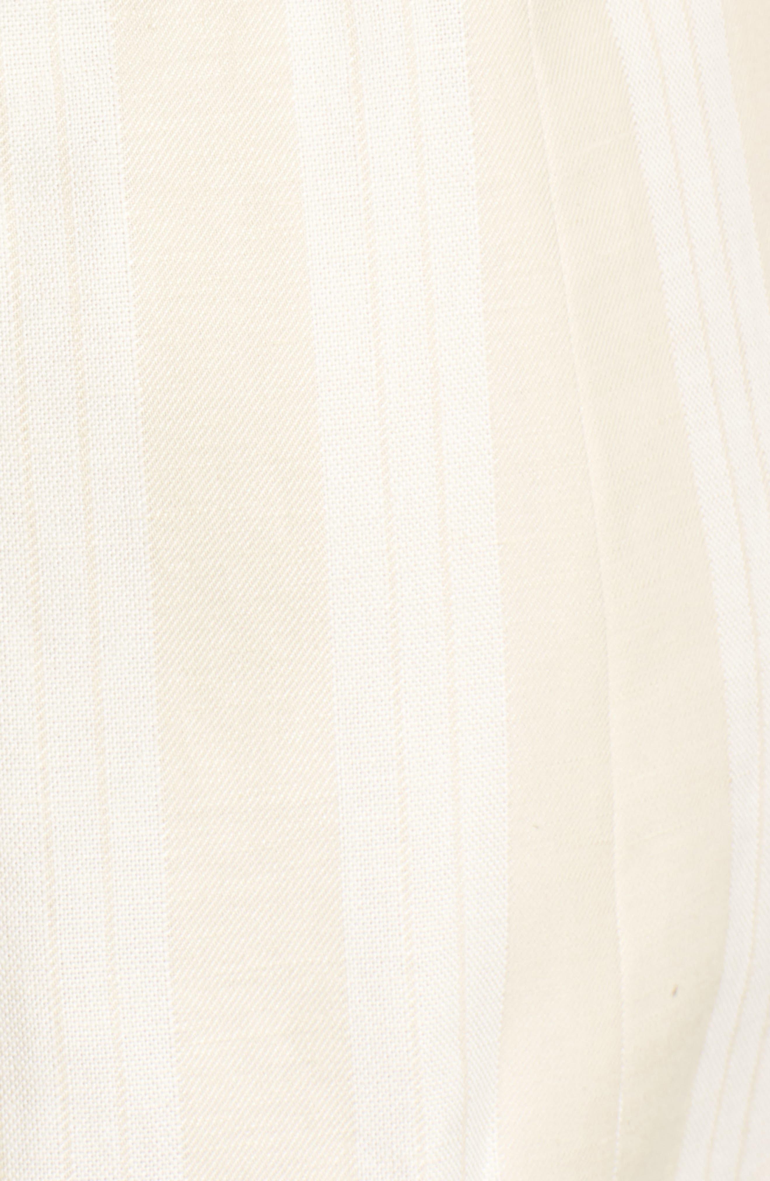 Elena Lace Side Dress,                             Alternate thumbnail 5, color,                             Natural Stripe