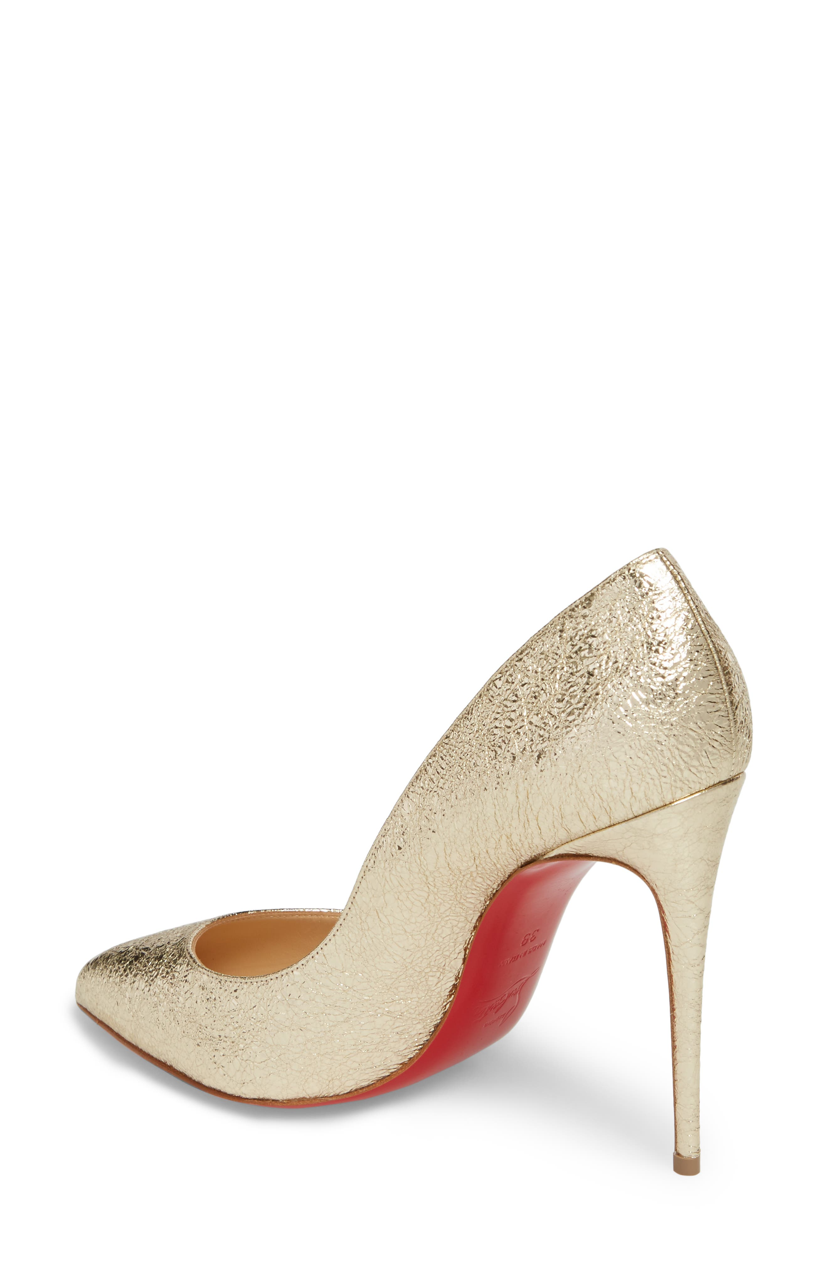 Pigalle Follies Pointy Toe Pump,                             Alternate thumbnail 2, color,                             Platine