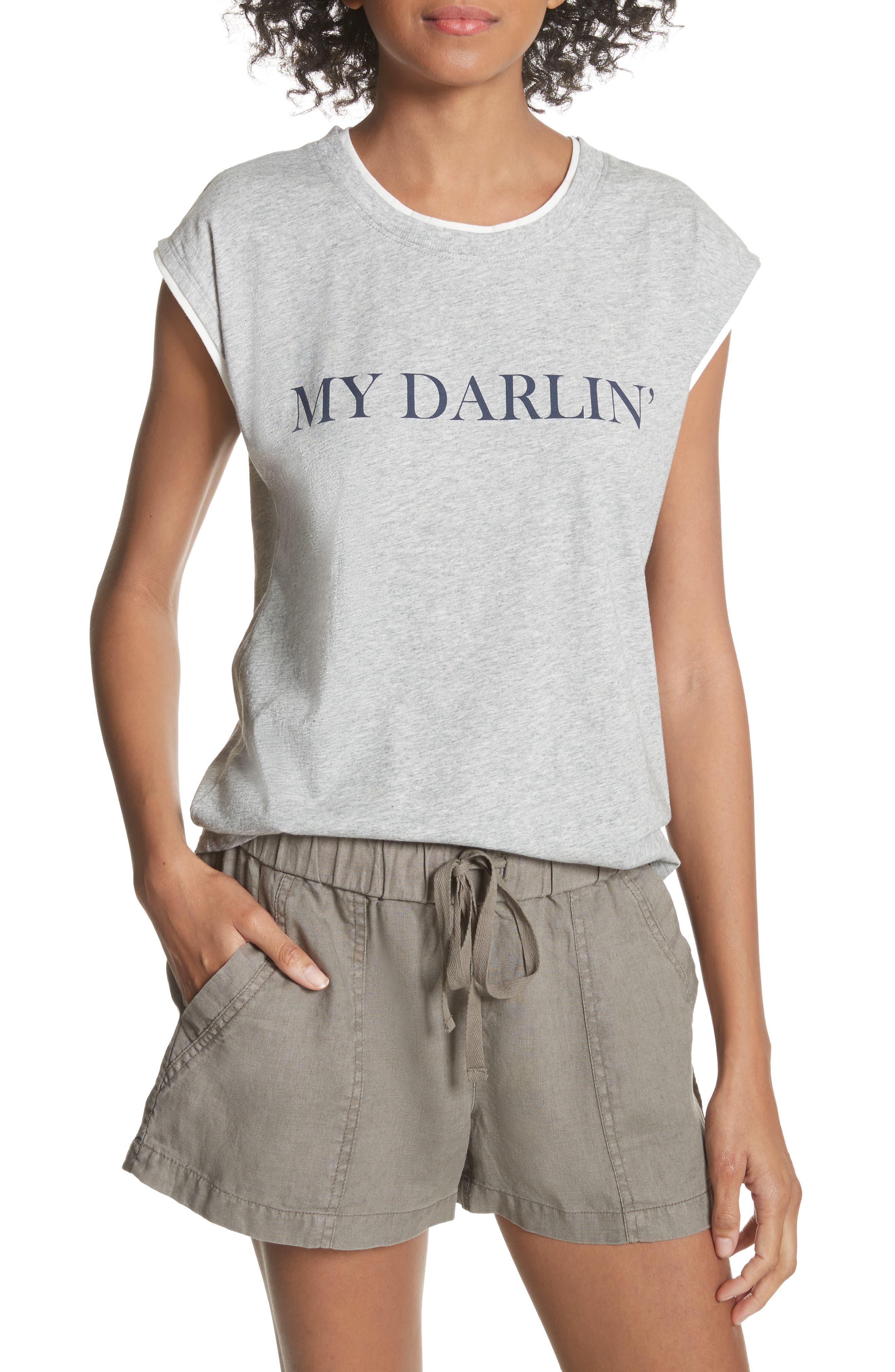Glyn My Darlin' Top,                         Main,                         color, Heather Grey