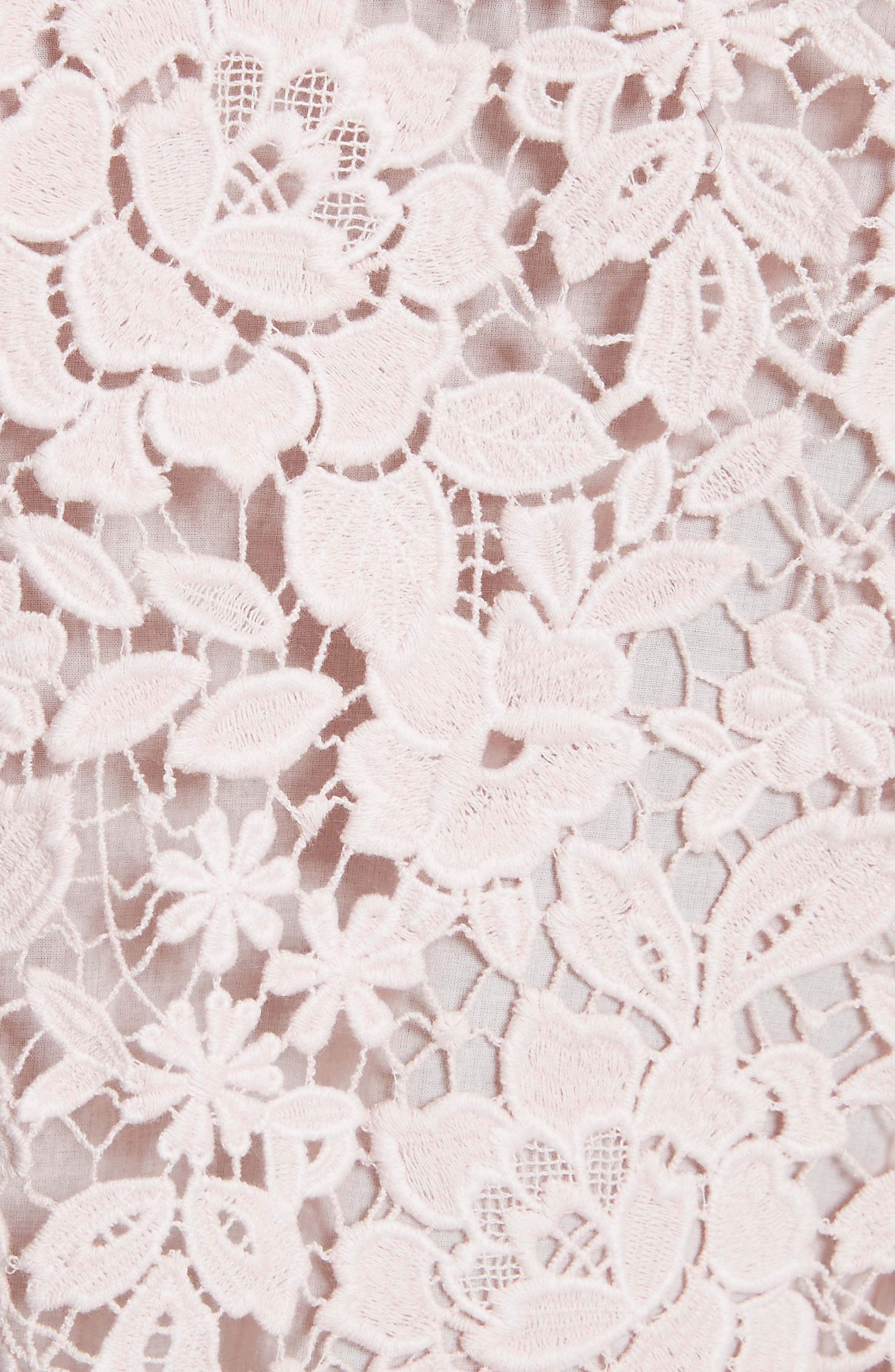 Charnette Lace Top,                             Alternate thumbnail 5, color,                             Rosewater