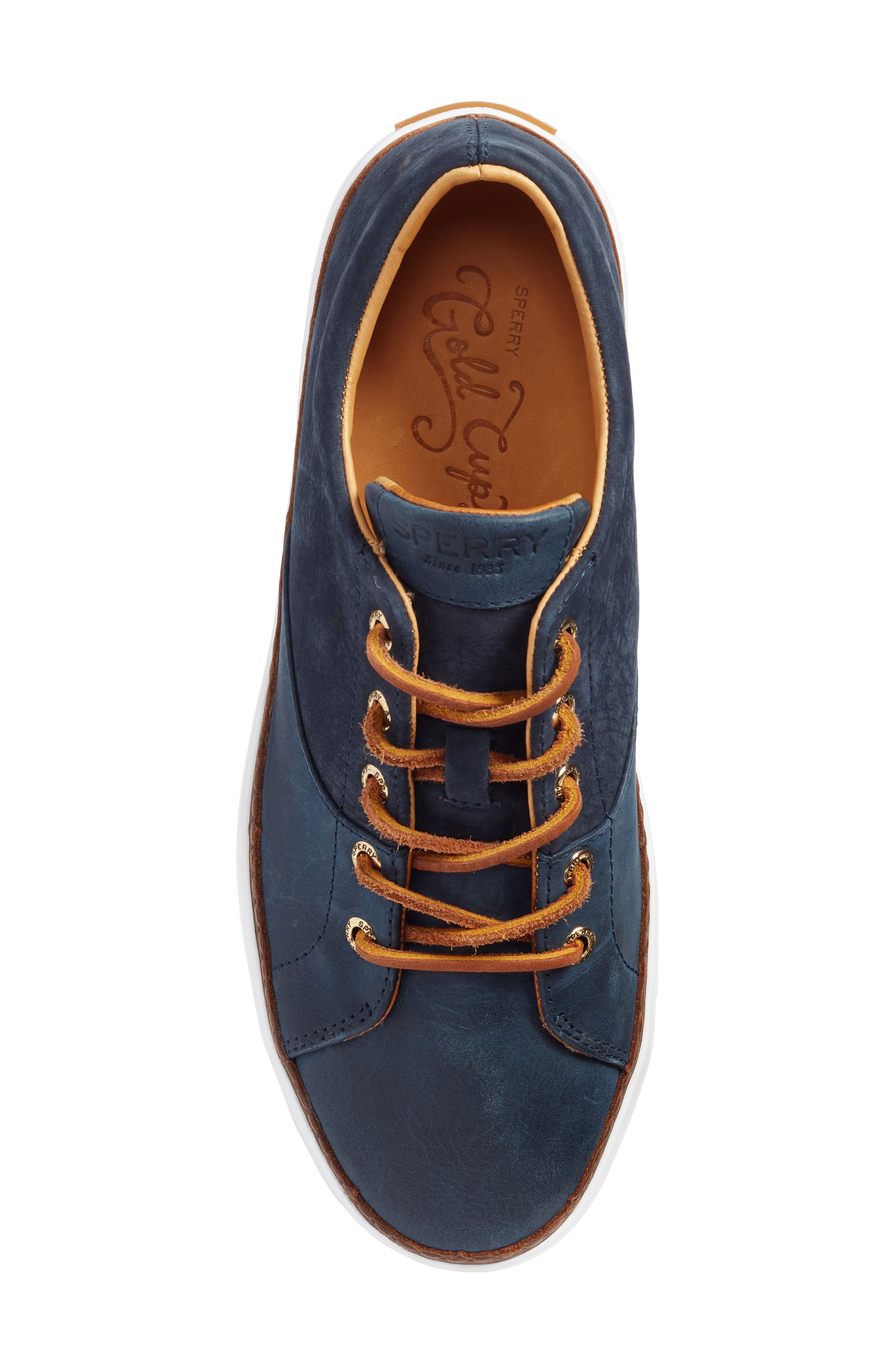 Gold Cup Haven Sneaker,                             Alternate thumbnail 4, color,                             Navy Leather