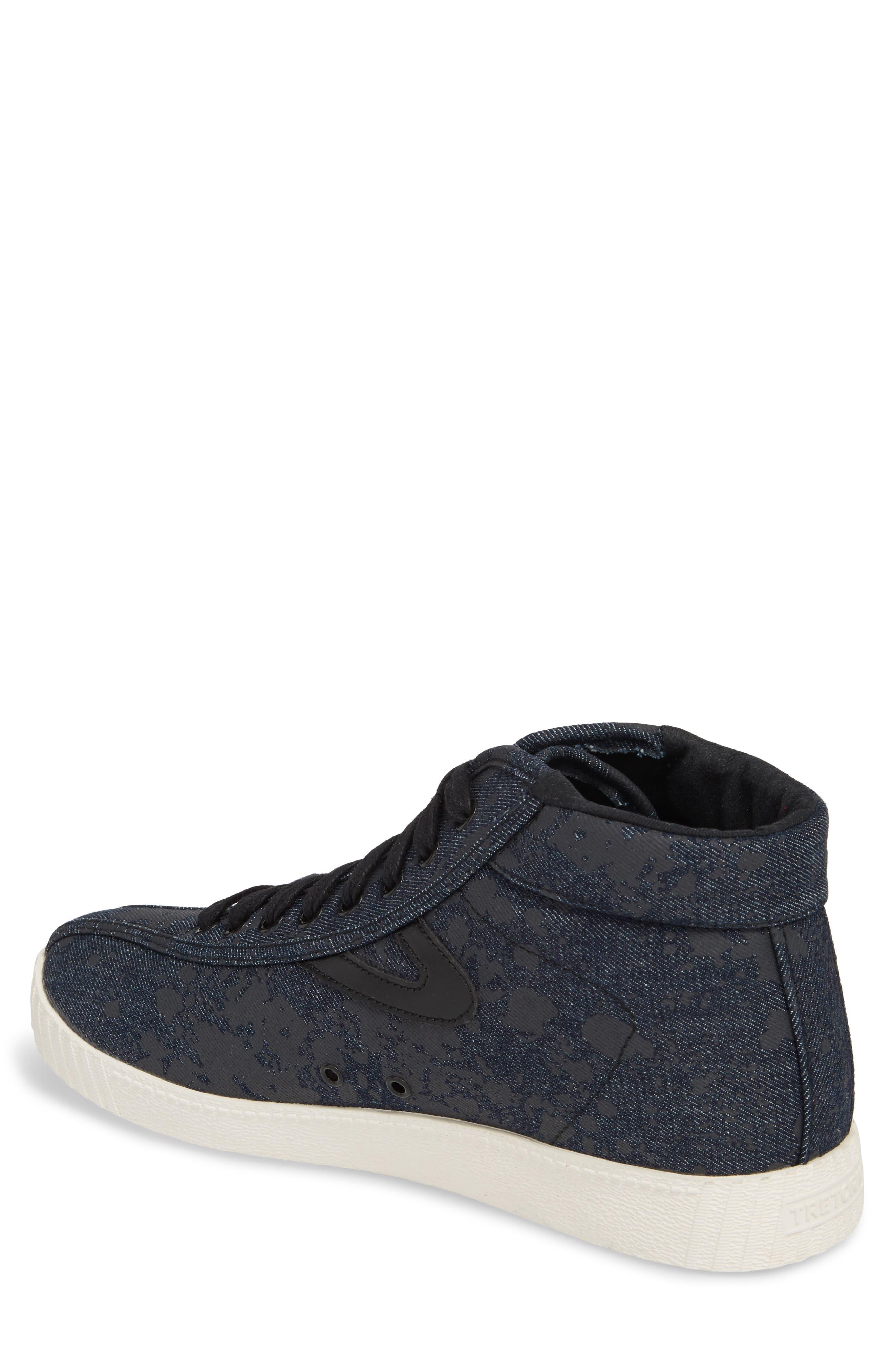 Nylite High Top Sneaker,                             Alternate thumbnail 2, color,                             Nero Opaco/ Black Denim