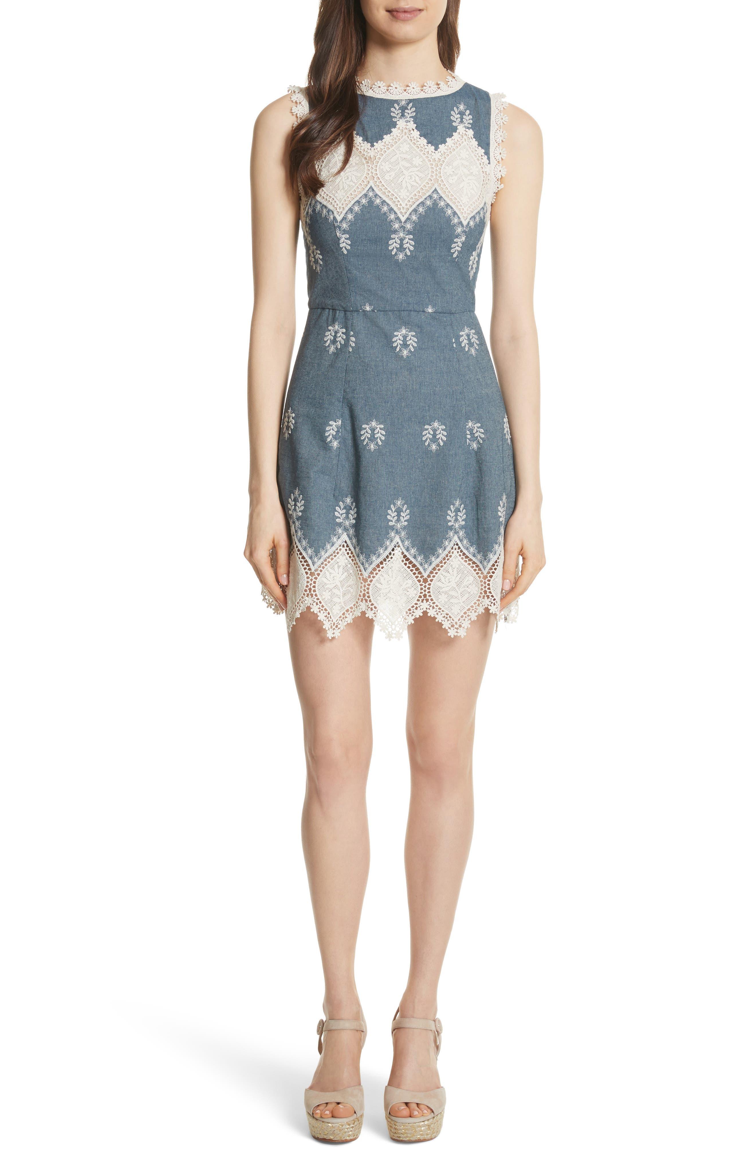 Alice + Olivia Embroidered Minidress