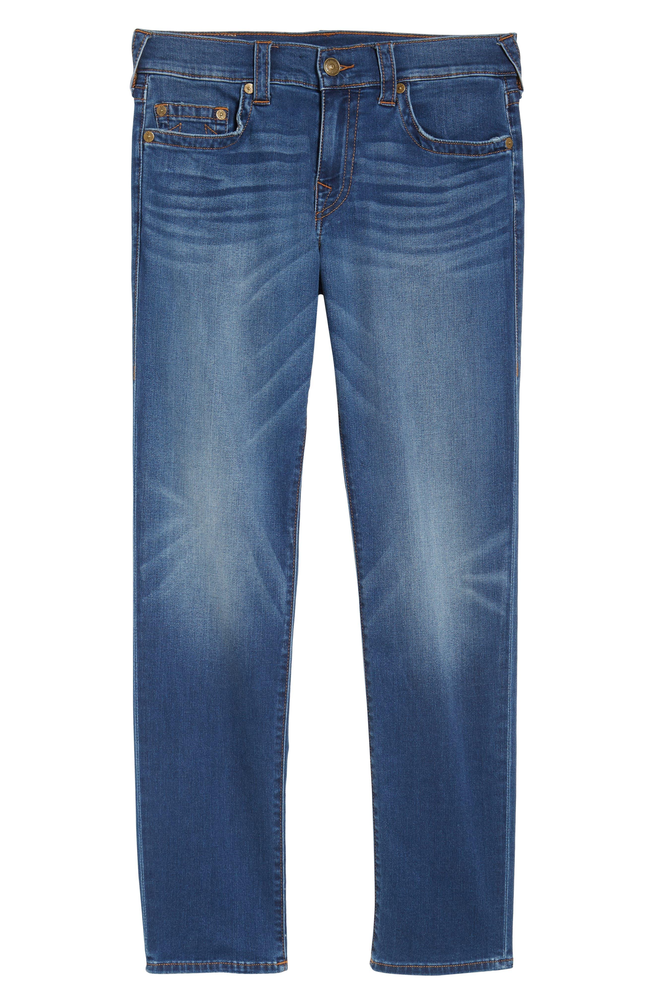 Geno Straight Leg Jeans,                             Alternate thumbnail 6, color,                             Indigo Lake