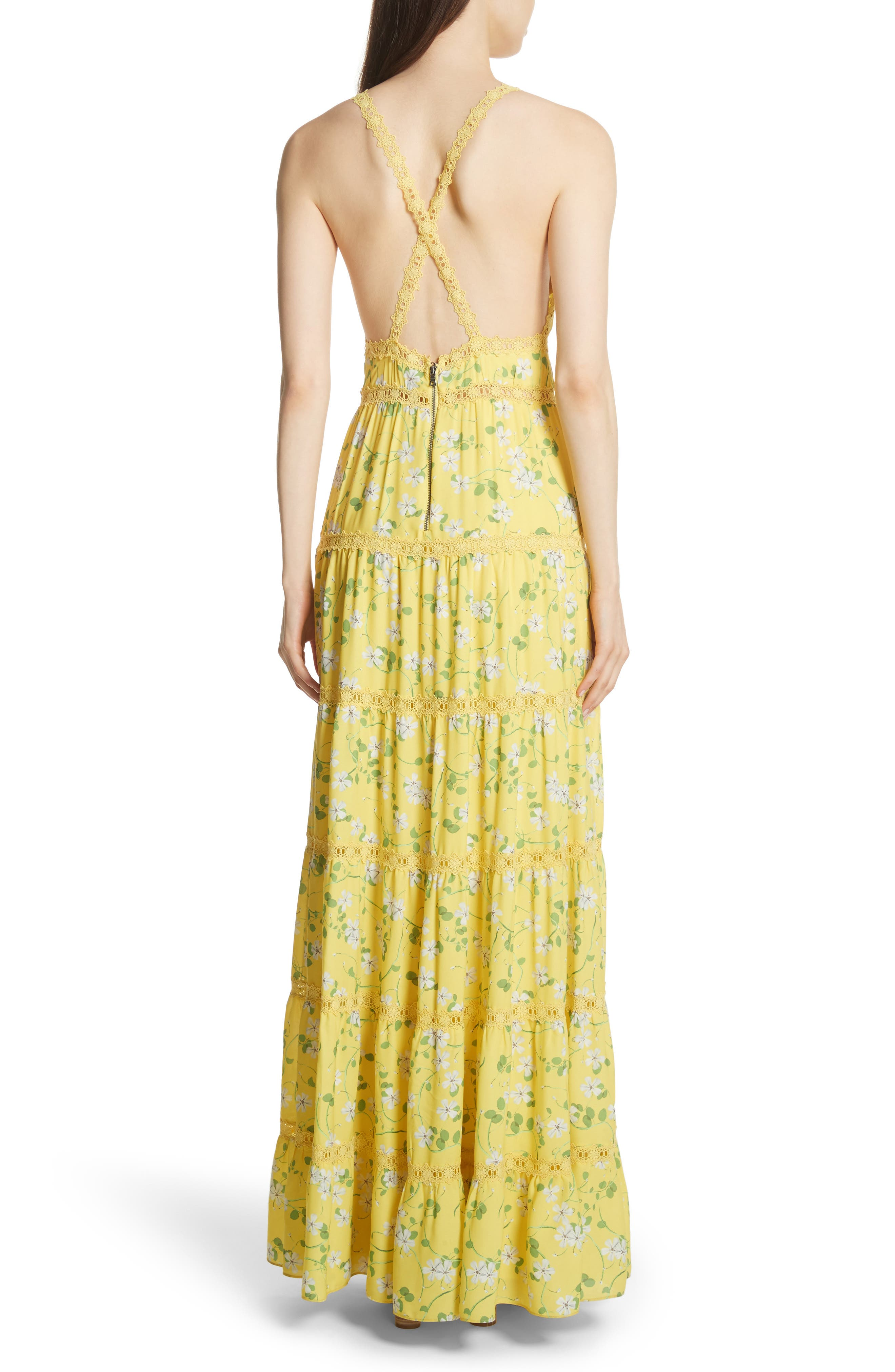 Karolina Print Maxi Dress,                             Alternate thumbnail 2, color,                             Spring Primrose-Lemon
