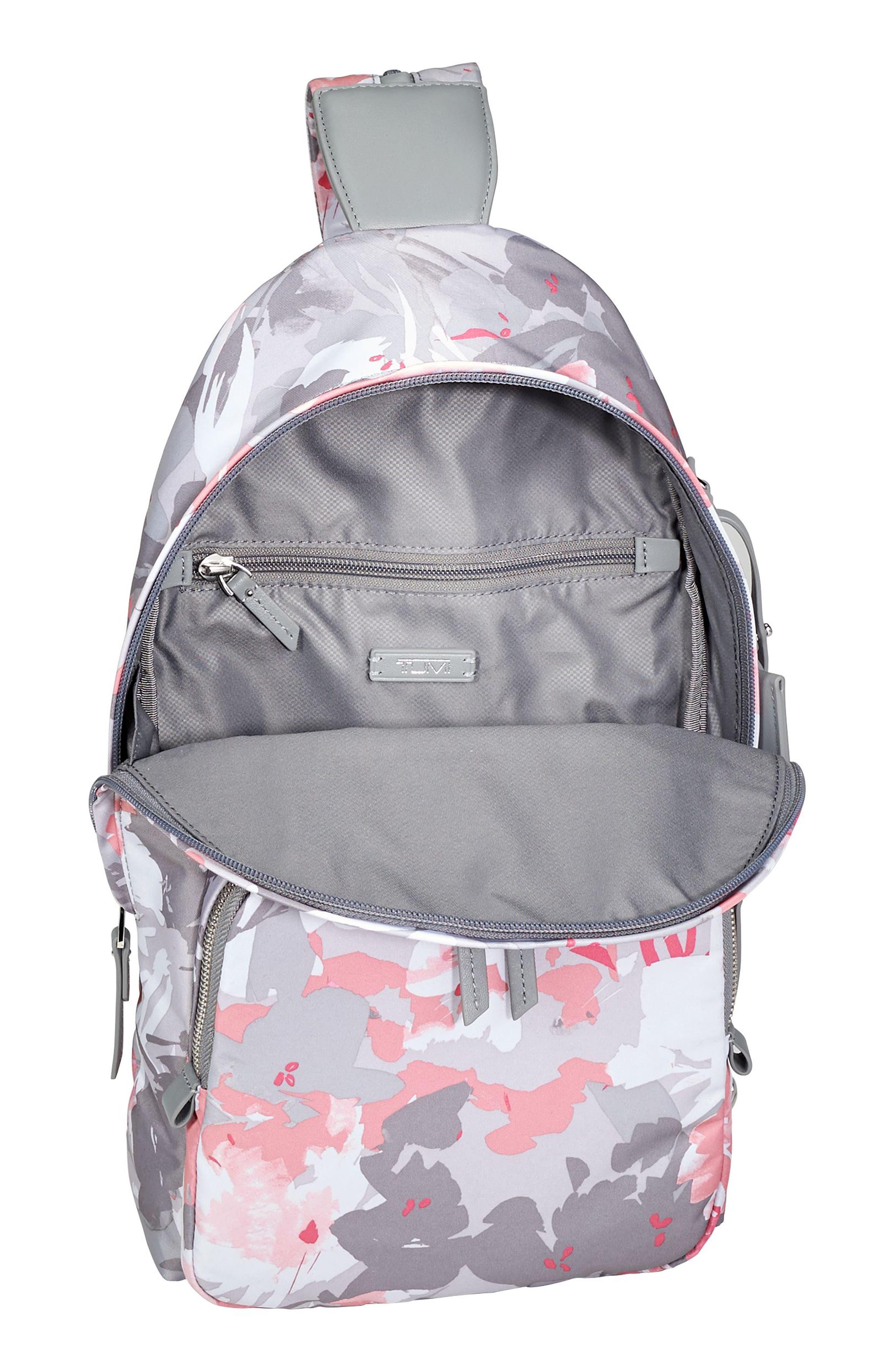 Nadia Convertible Backpack,                             Alternate thumbnail 3, color,                             Grey Floral Print