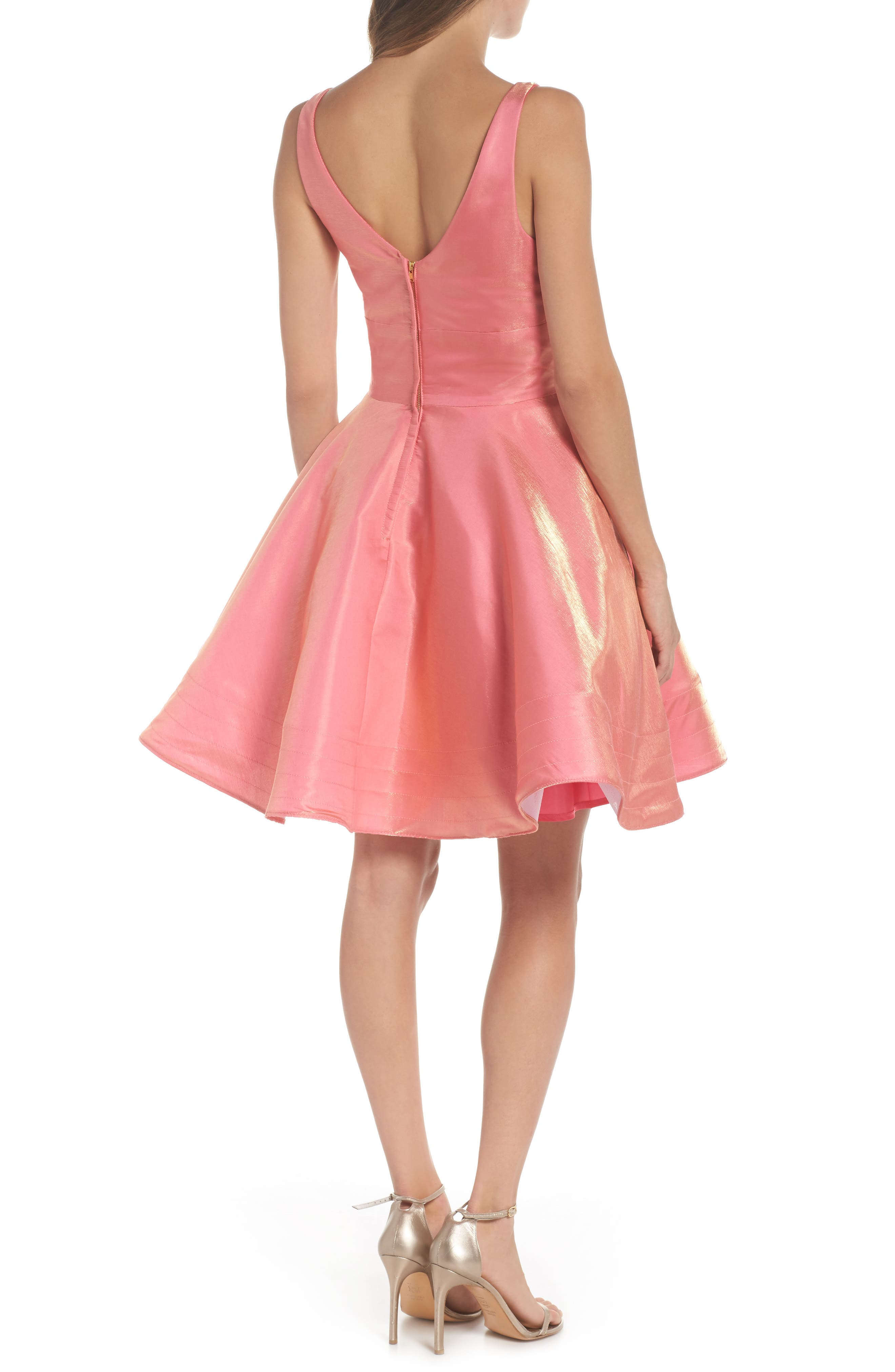 Alternate Image 2  - Xscape Shimmer Fit & Flare Dress