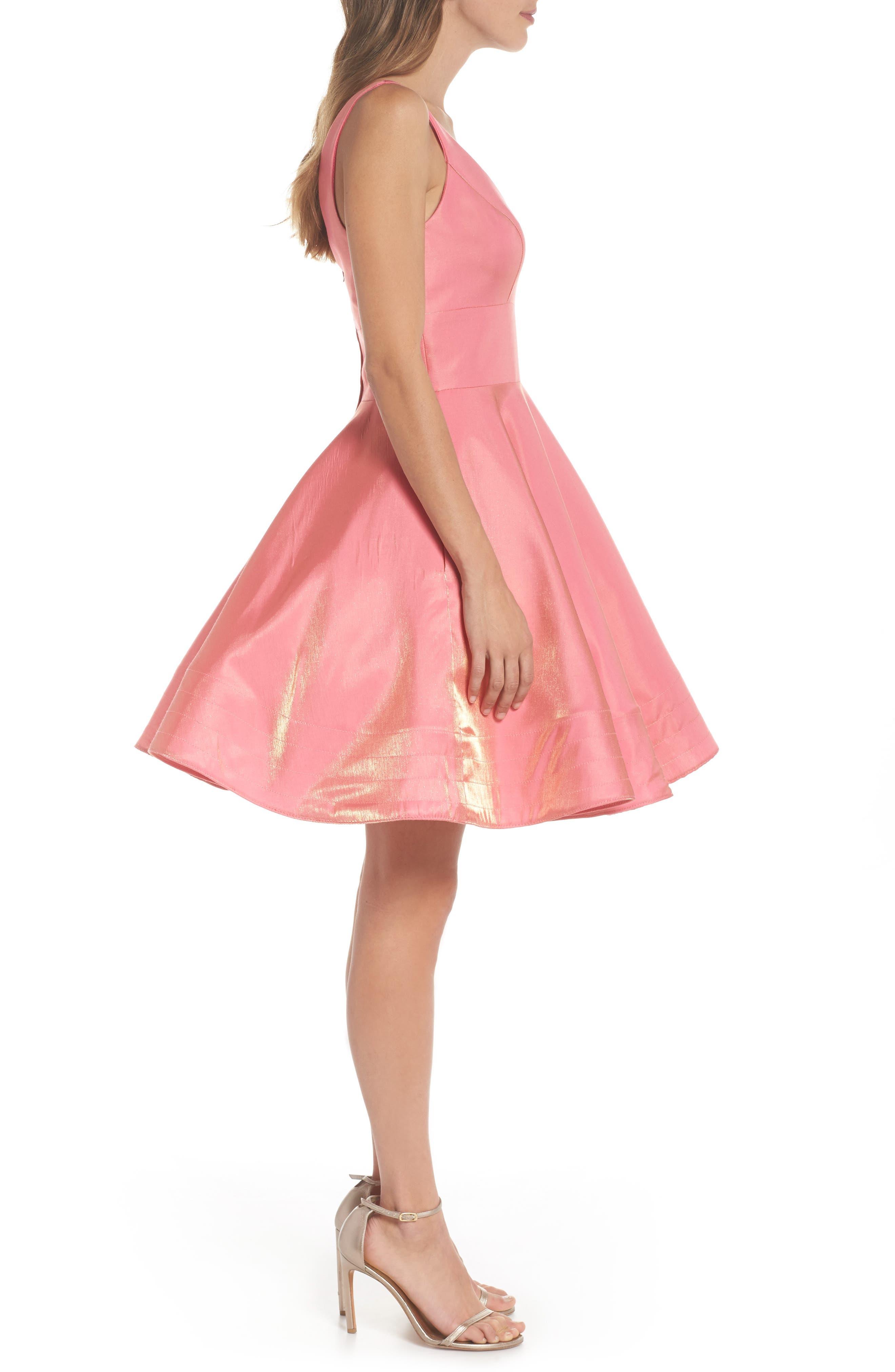 Alternate Image 3  - Xscape Shimmer Fit & Flare Dress