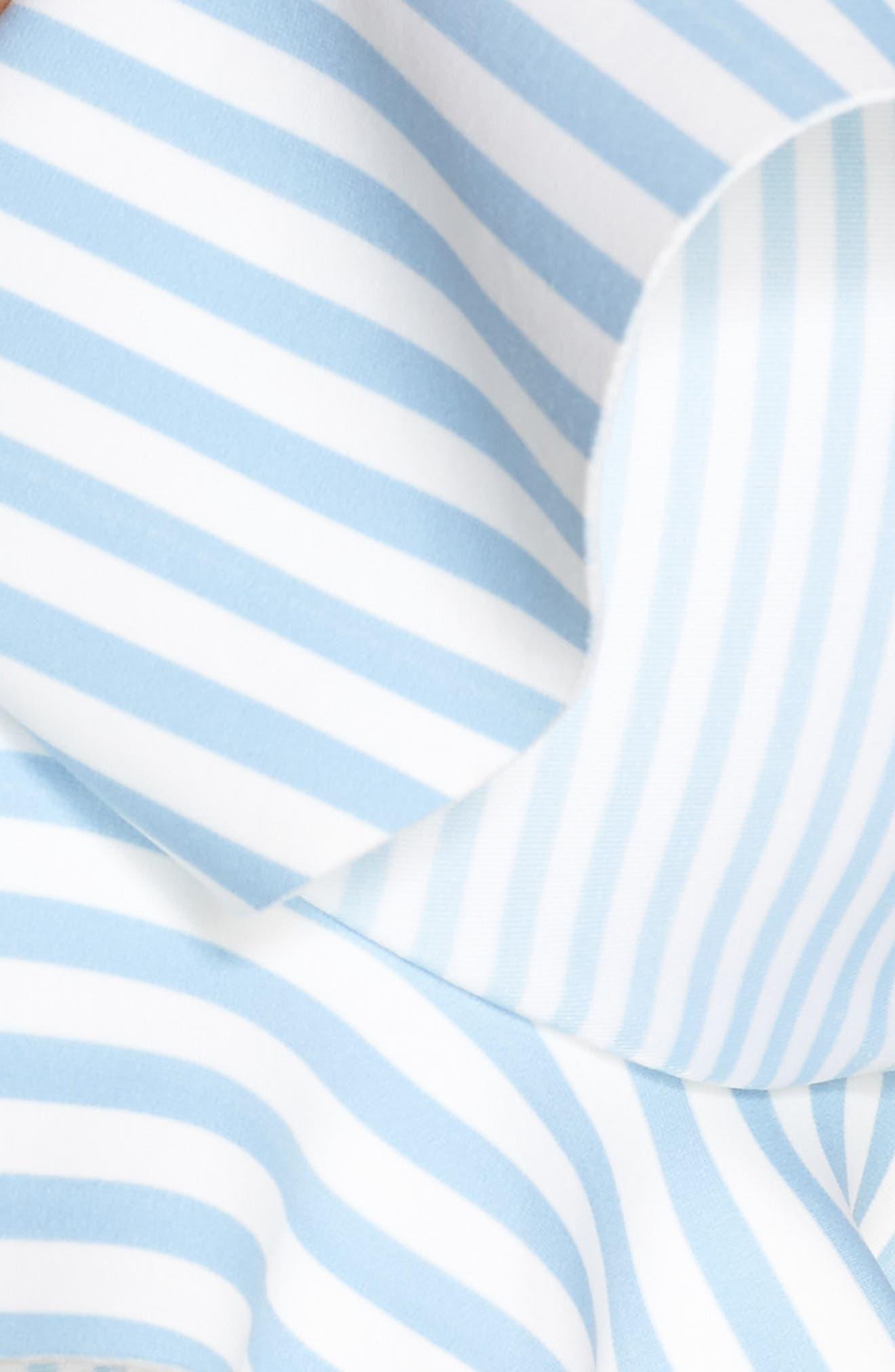 Stripe Ruffle Bikini Top,                             Alternate thumbnail 5, color,                             Pale Blue