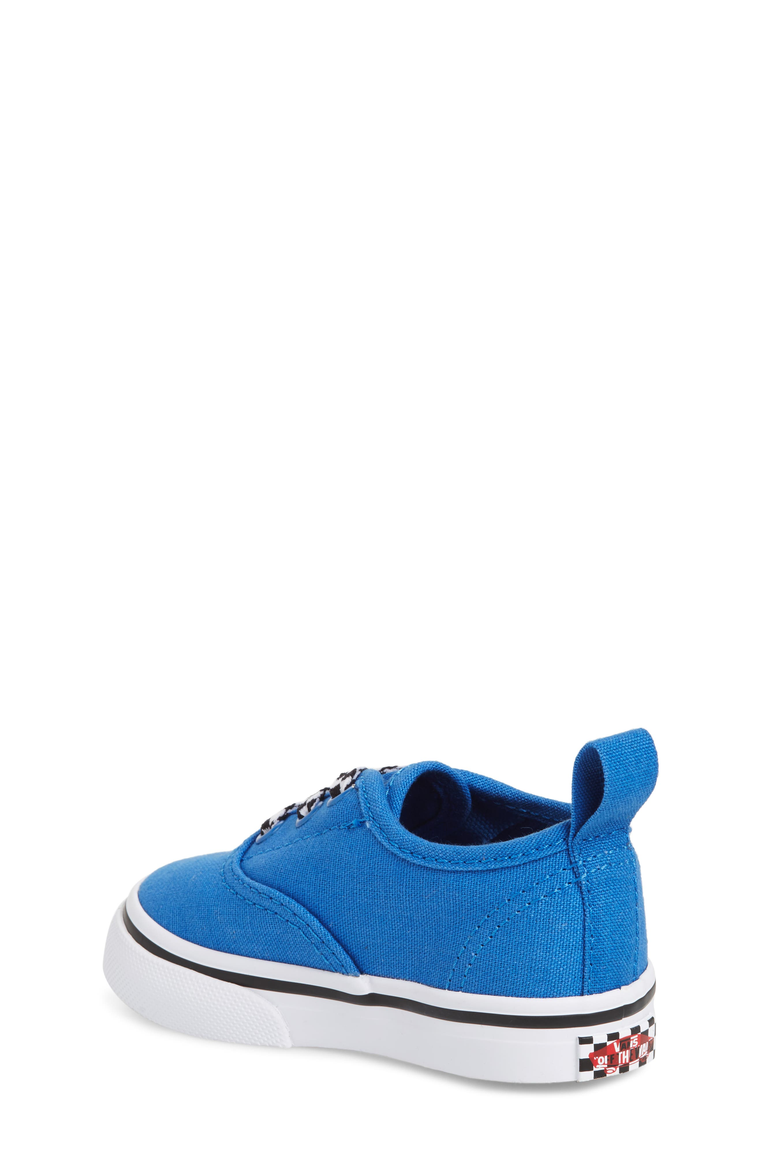 Authentic Sneaker,                             Alternate thumbnail 2, color,                             Blue/ White Check Lace