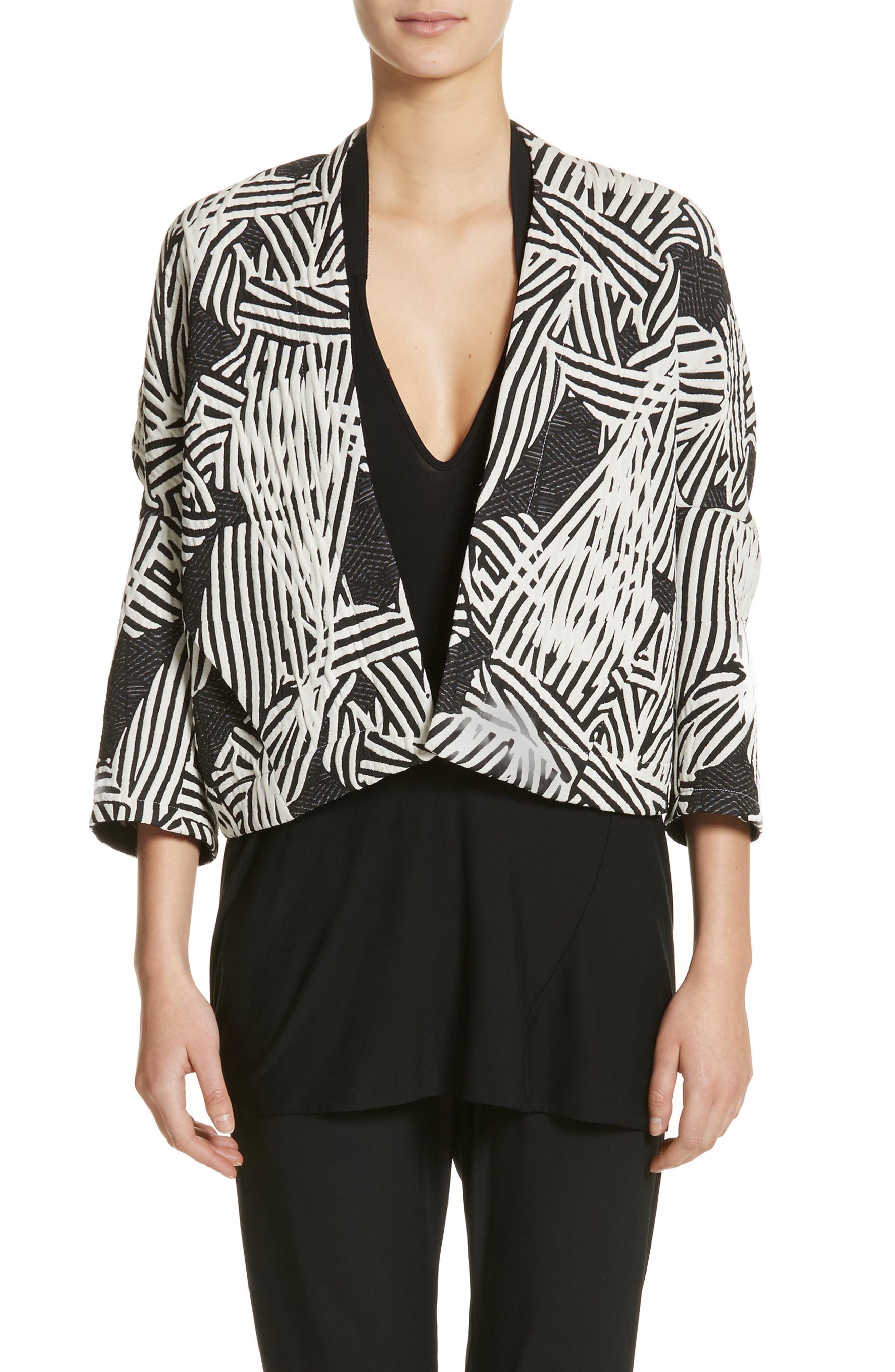 Zero + Maria Cornejo Bow Print Jacquard Jacket