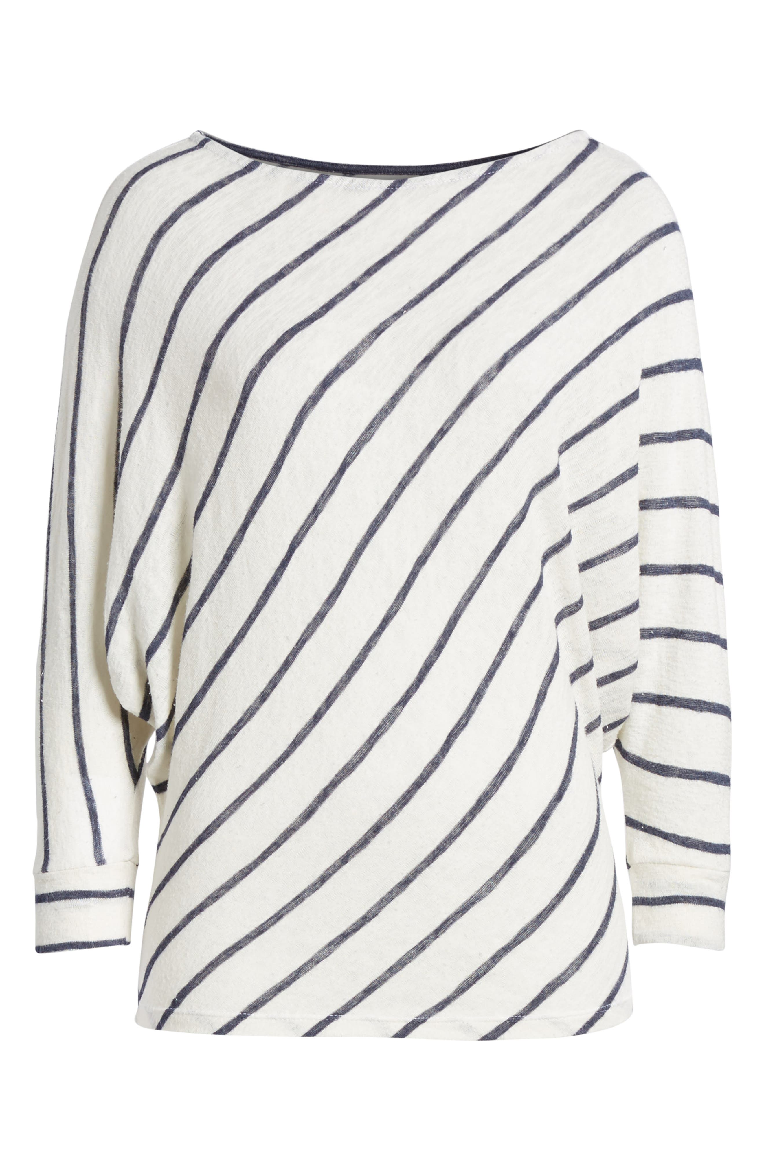 Stripe Dolman Sleeve Top,                             Alternate thumbnail 8, color,                             Cream